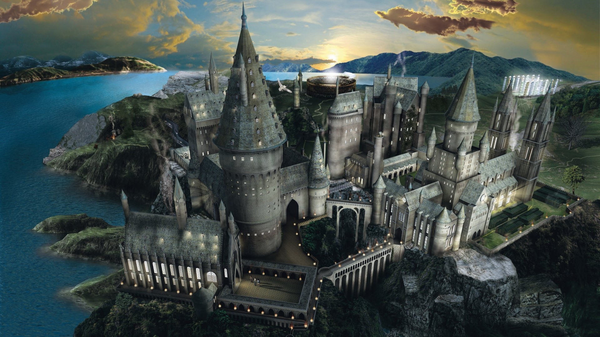 Hogwarts Full HD Wallpaper