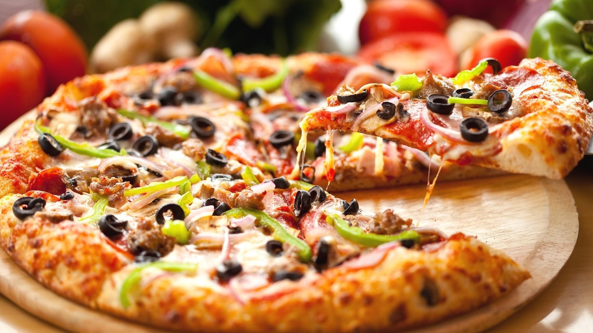 Pizza hd desktop wallpaper