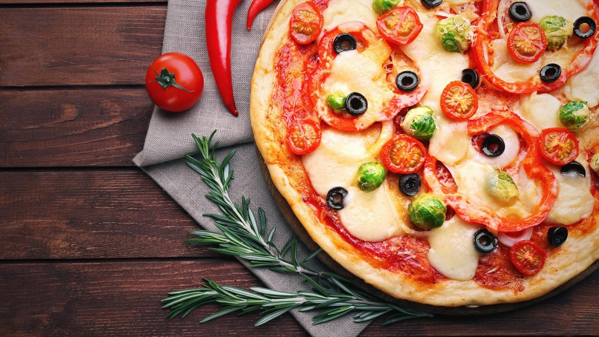 Pizza computer wallpaper