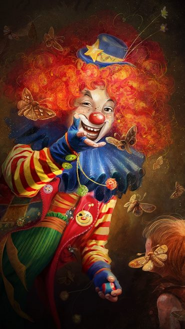 Clown iphone home screen wallpaper