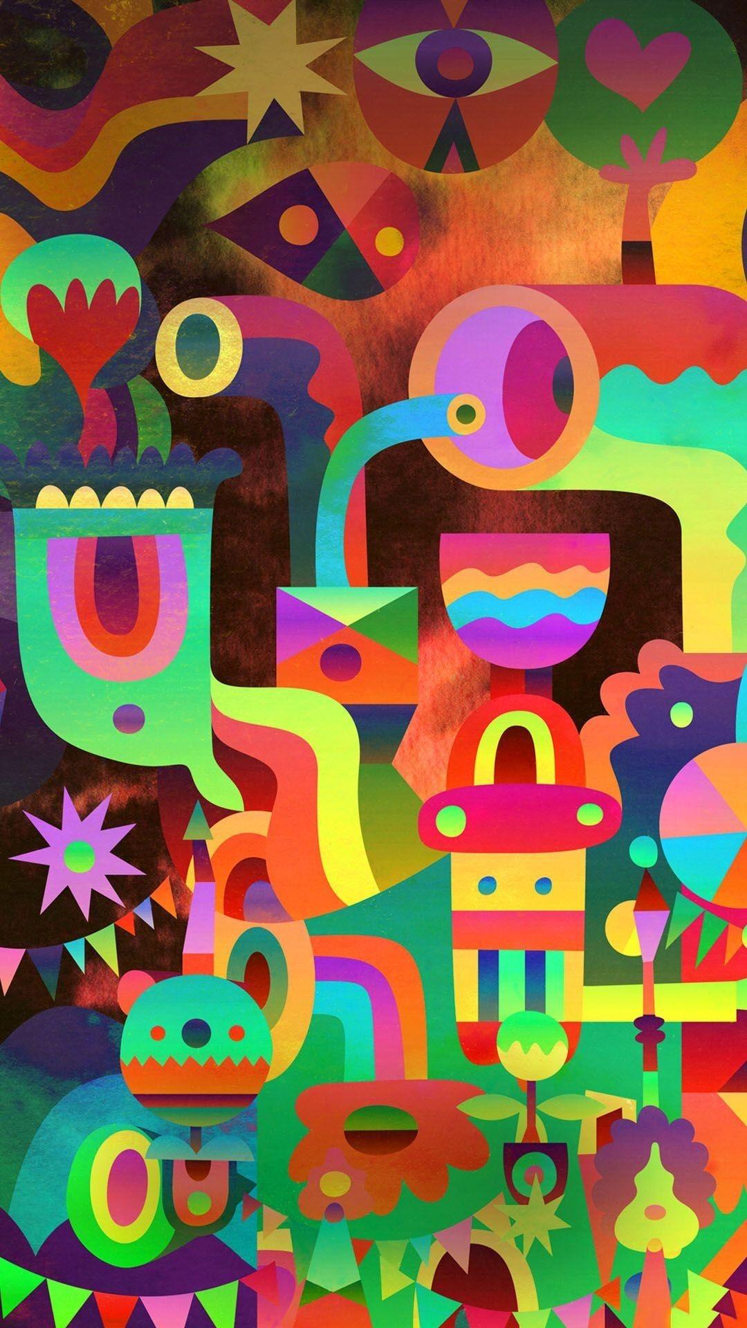 Colorful screensaver wallpaper