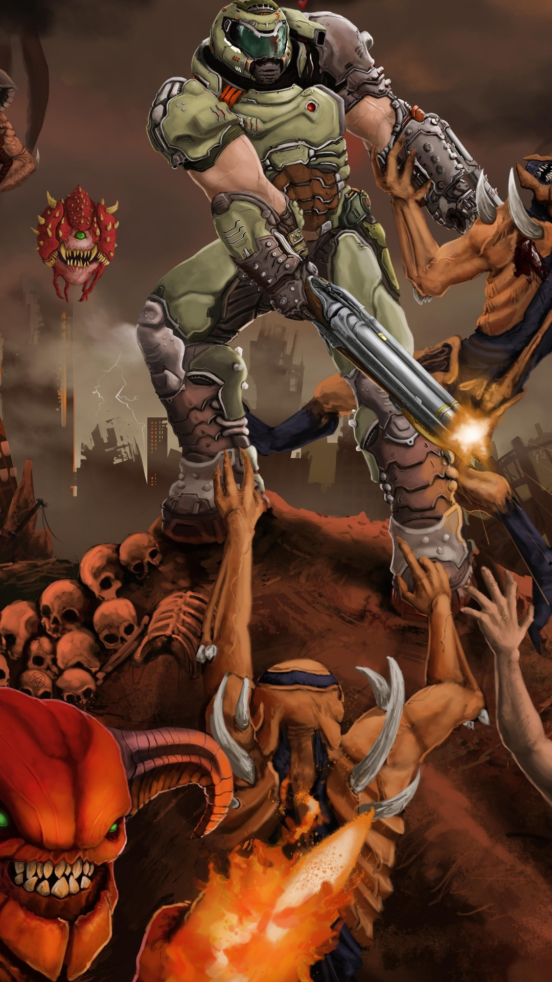 21 Doom Eternal Iphone Wallpapers Wallpaperboat