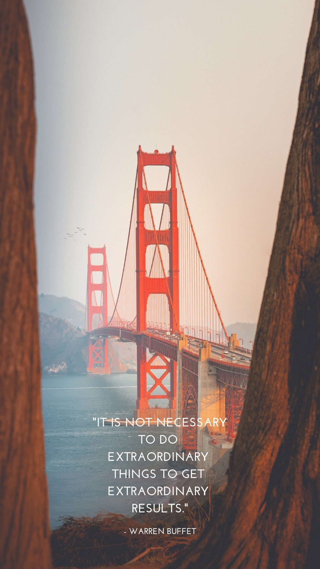 Golden Gate Bridge lock screen wallpaper