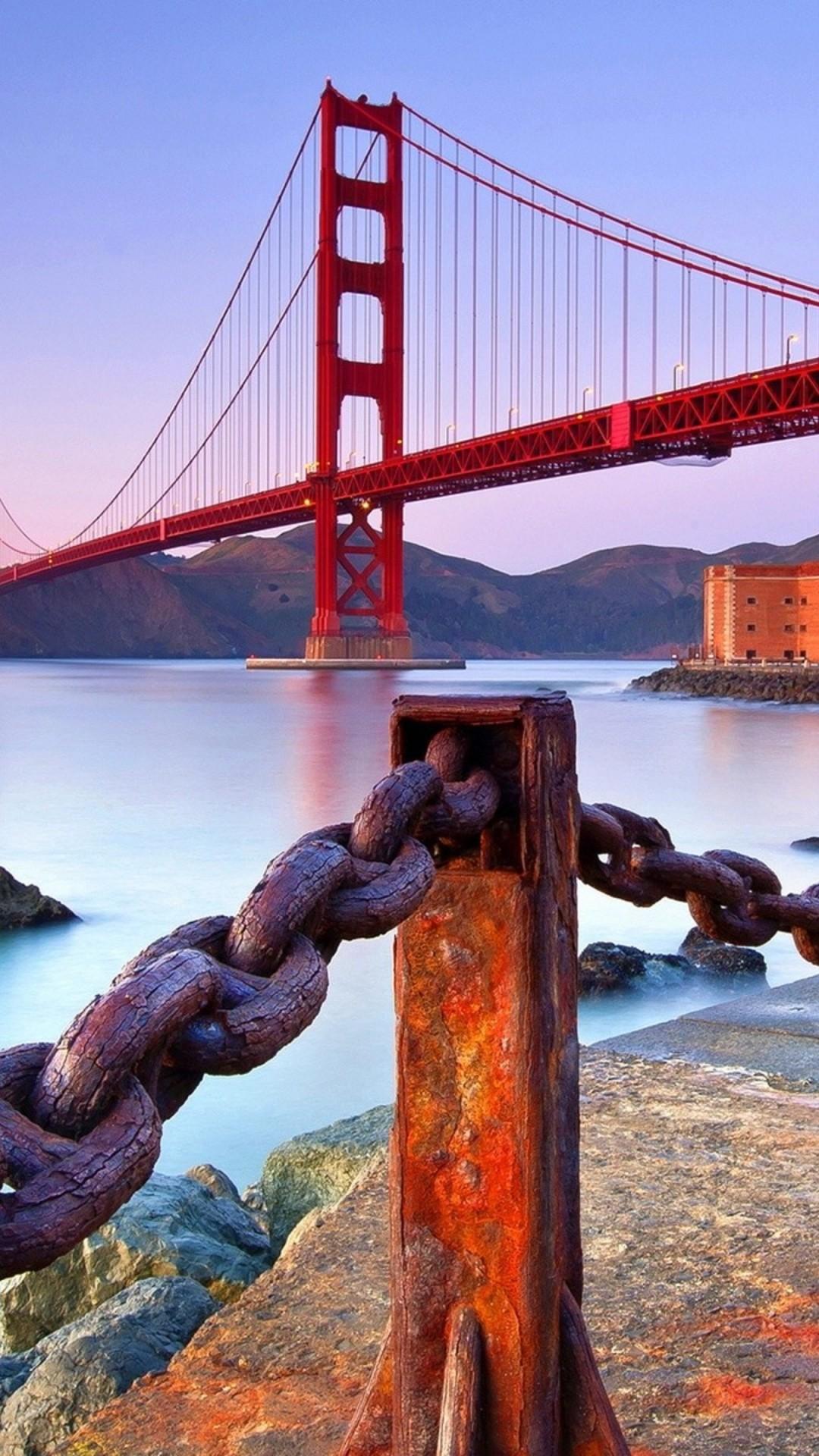 Golden Gate Bridge iphone home screen wallpaper