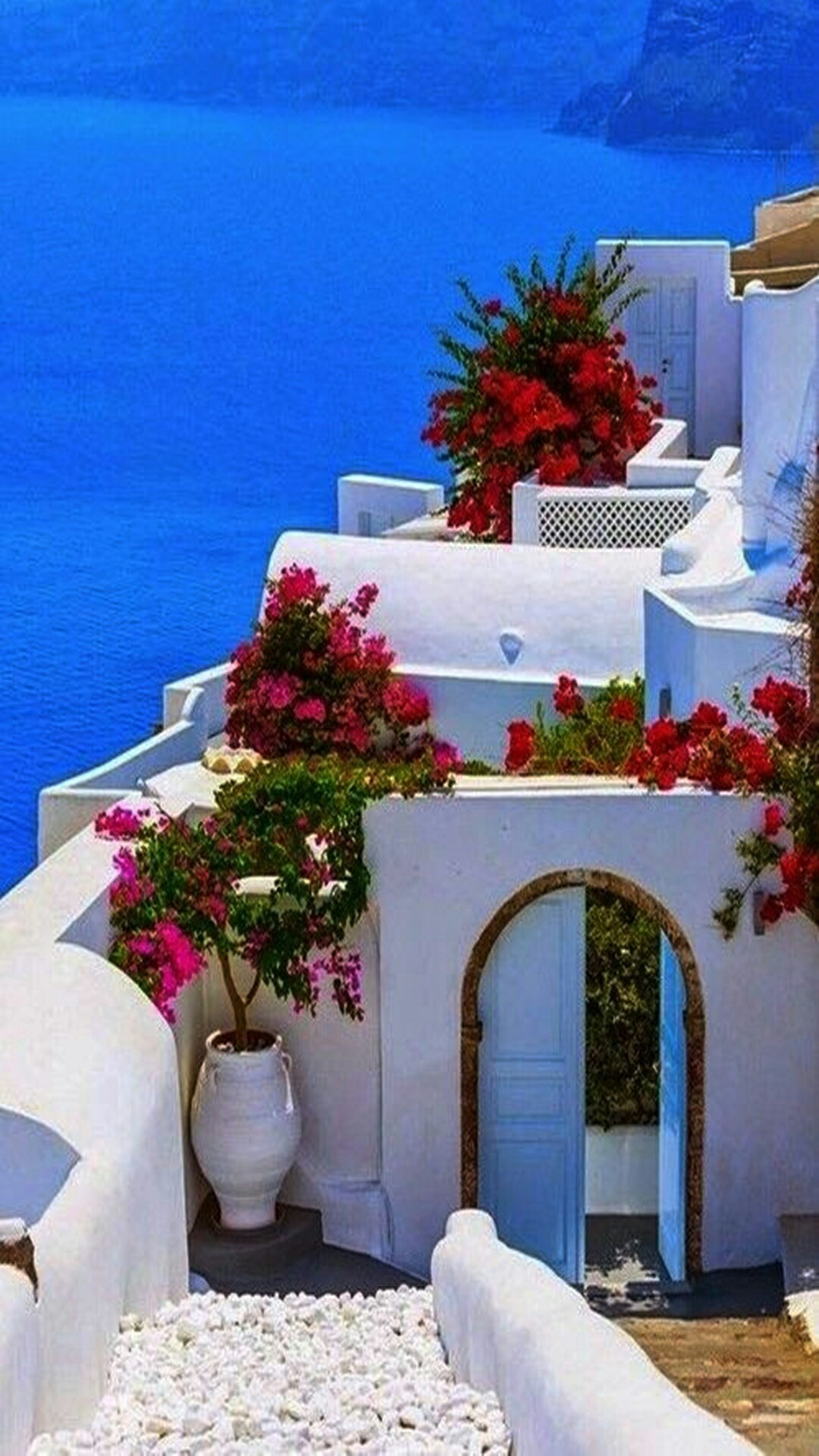 Greece lock screen wallpaper