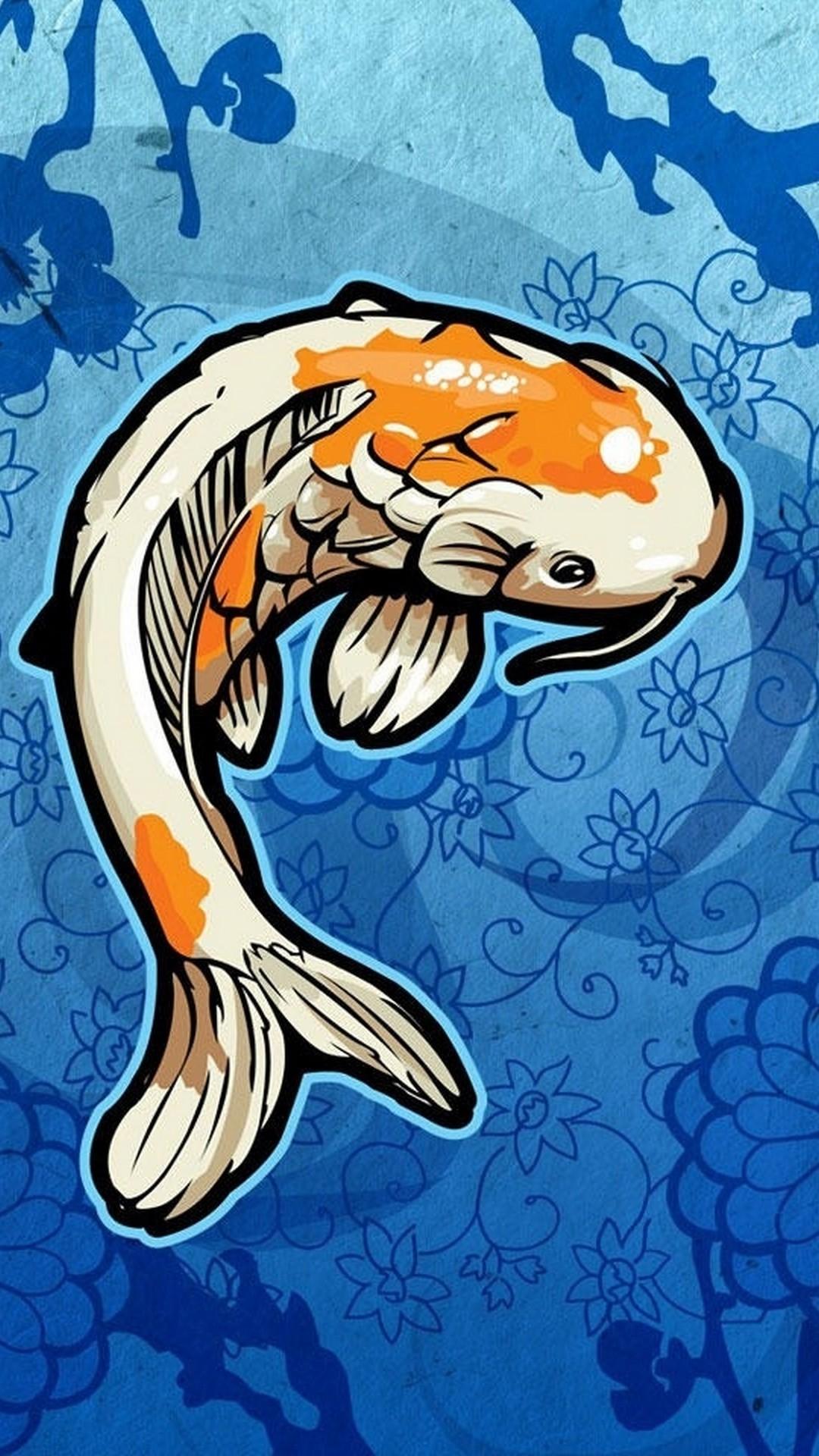 Koi Fish iphone 8 plus wallpaper