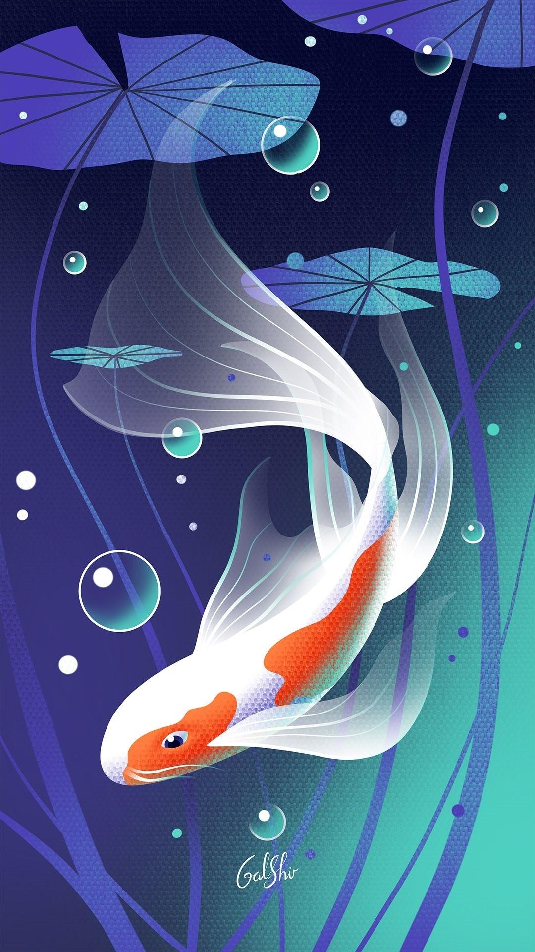 Koi Fish iphone 6 wallpaper