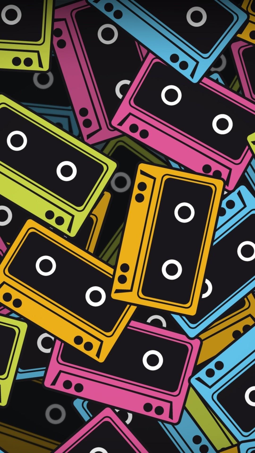 Retro iphone home screen wallpaper