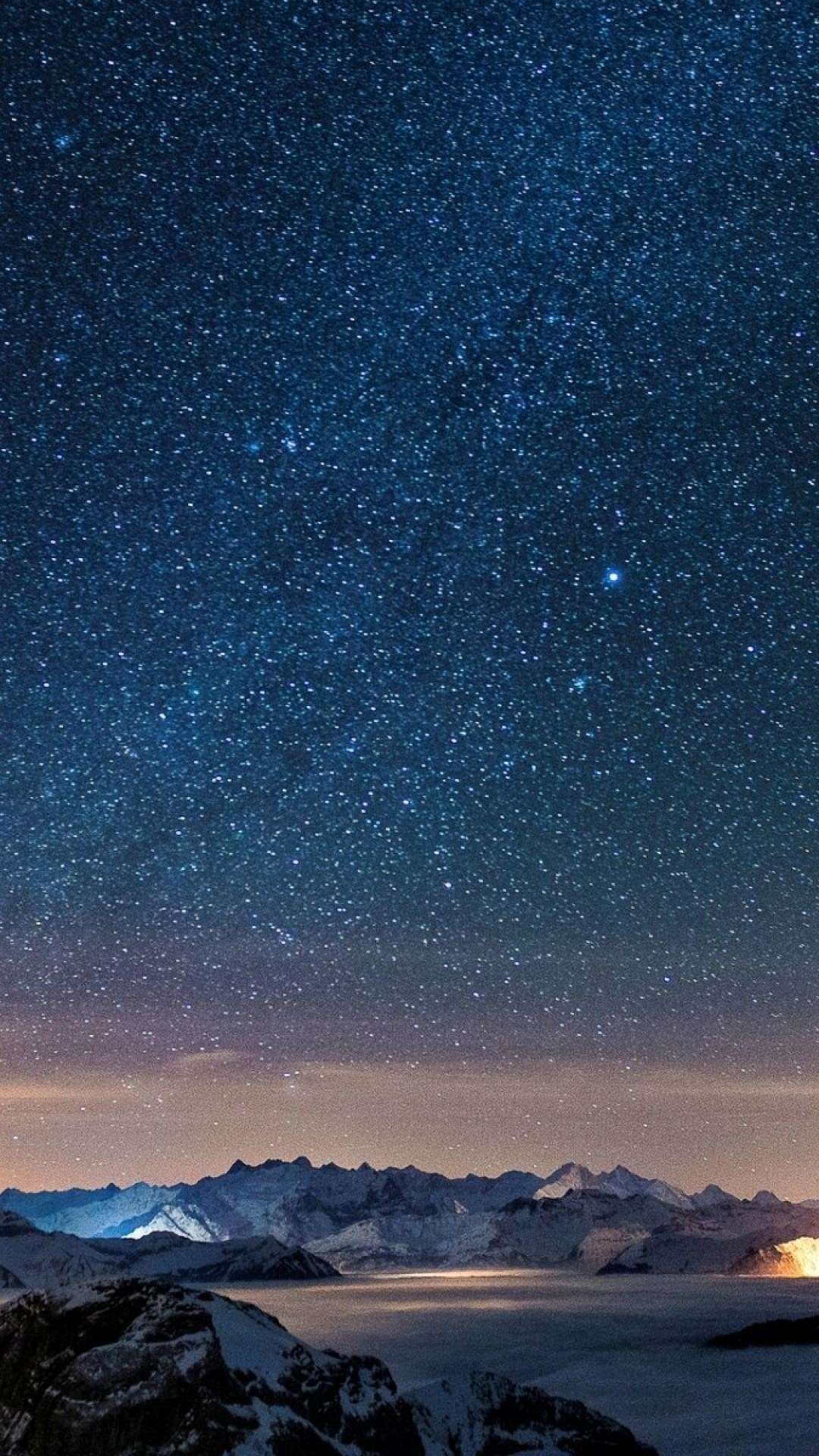 Starry Sky iphone wallpaper high quality