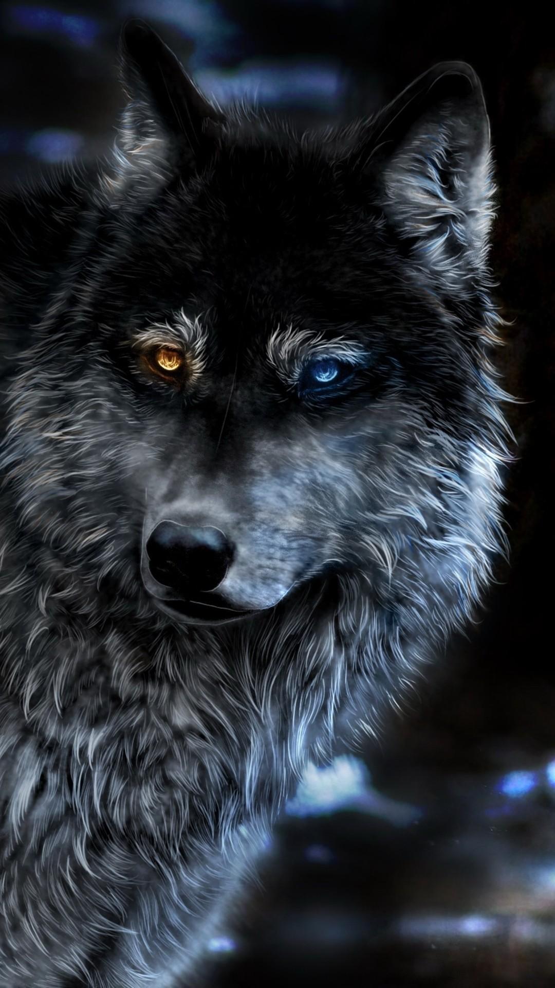 Wolf lock screen wallpaper