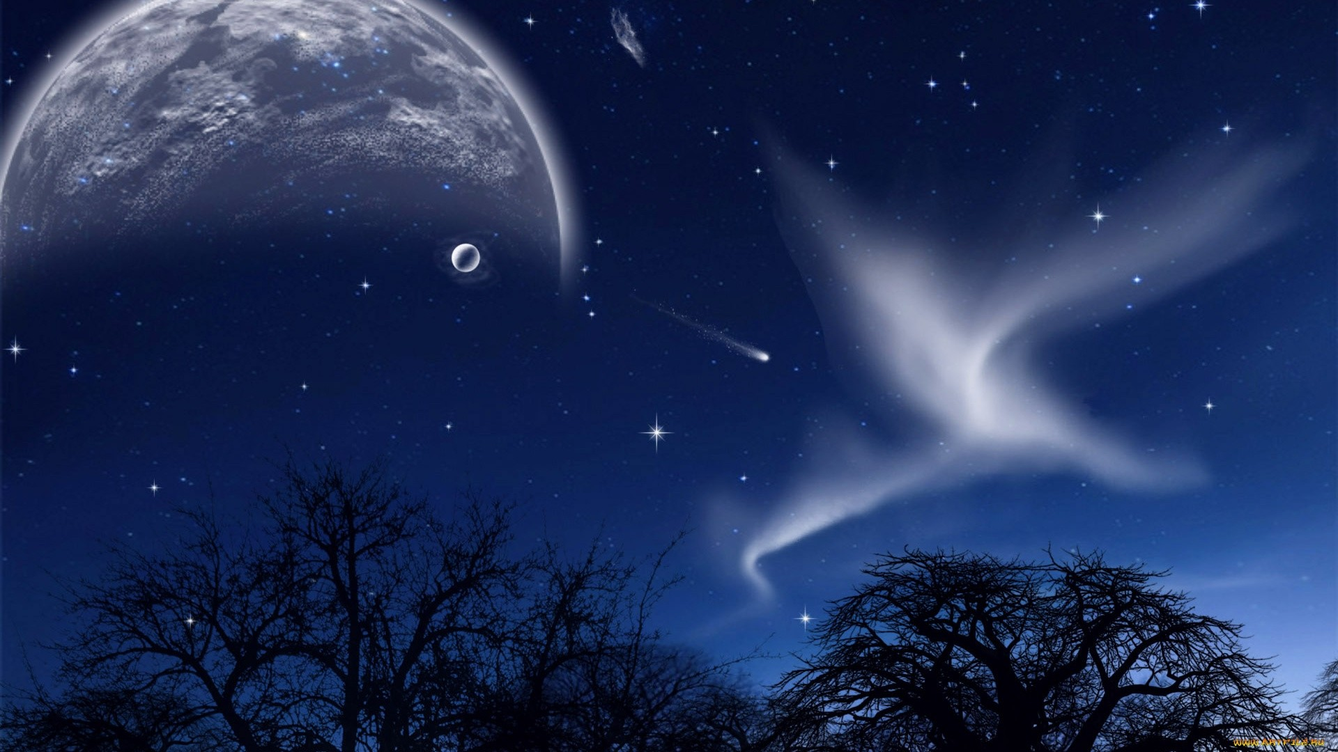 Moon And Stars wallpaper photo hd