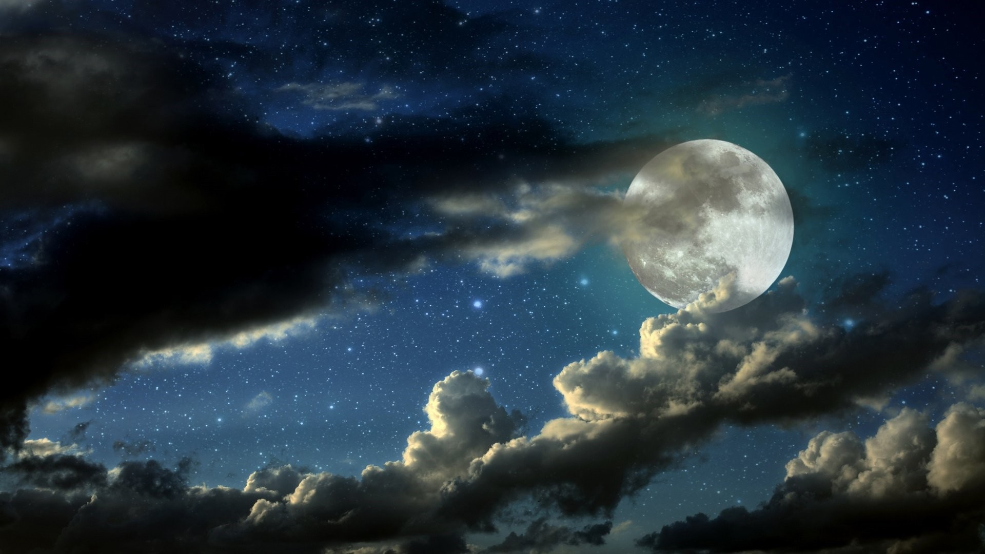 Moon And Stars Free Wallpaper and Background