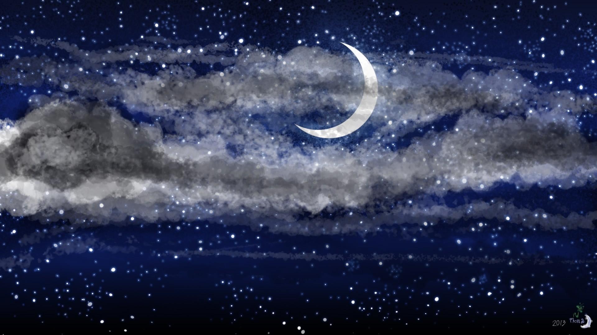 Moon And Stars hd wallpaper download