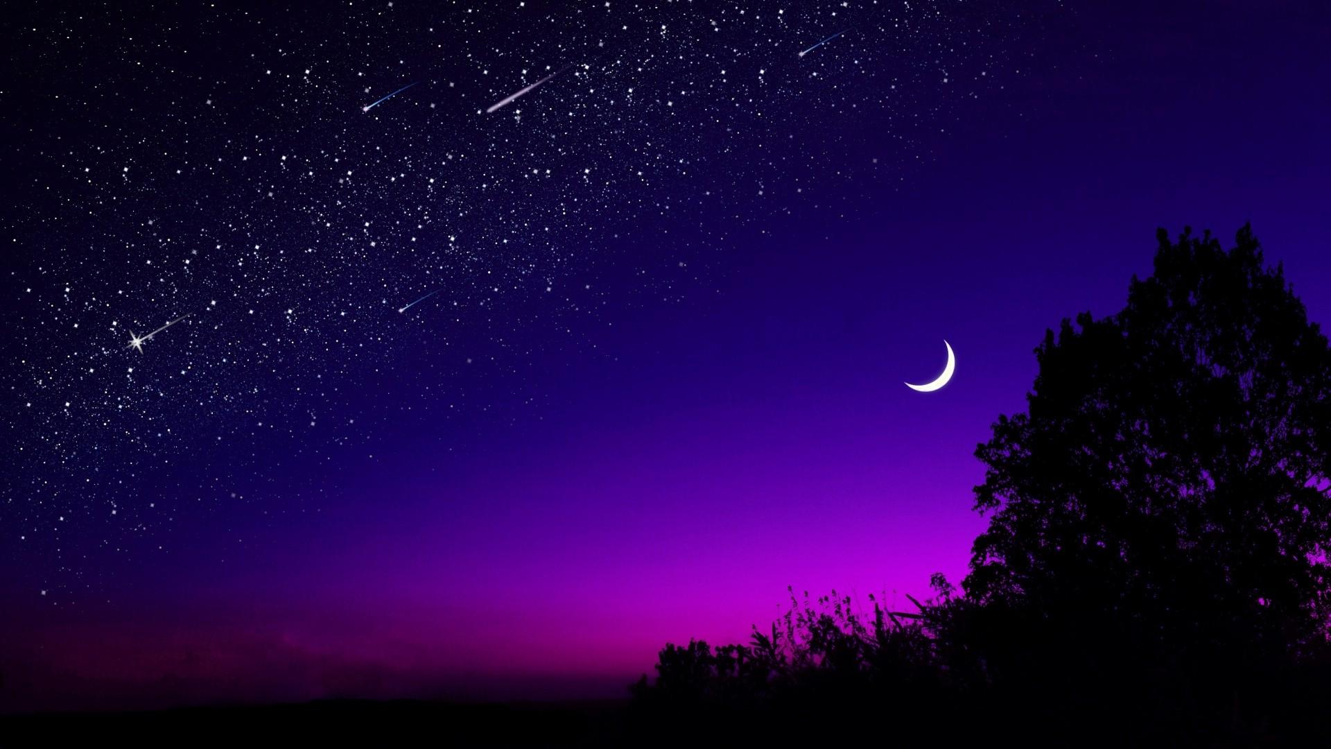 Moon And Stars Wallpaper theme