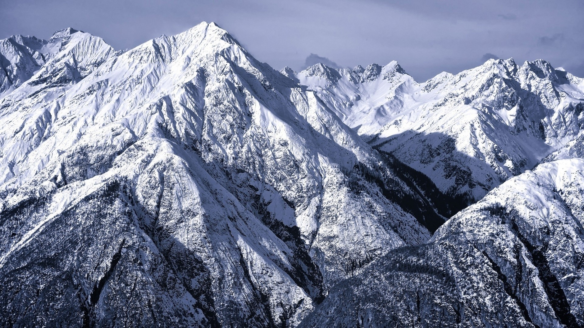 Snow Mountain Full HD Wallpaper