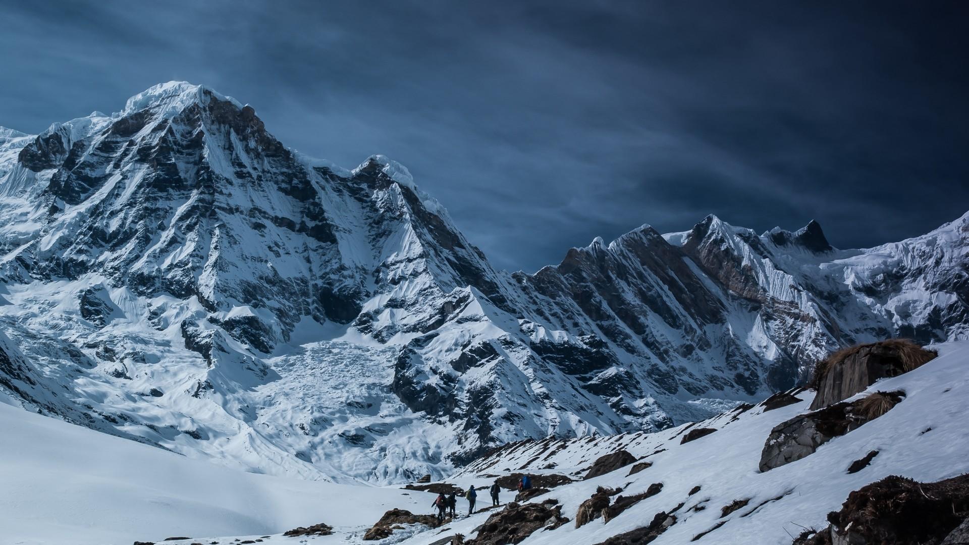 Snow Mountain hd desktop wallpaper