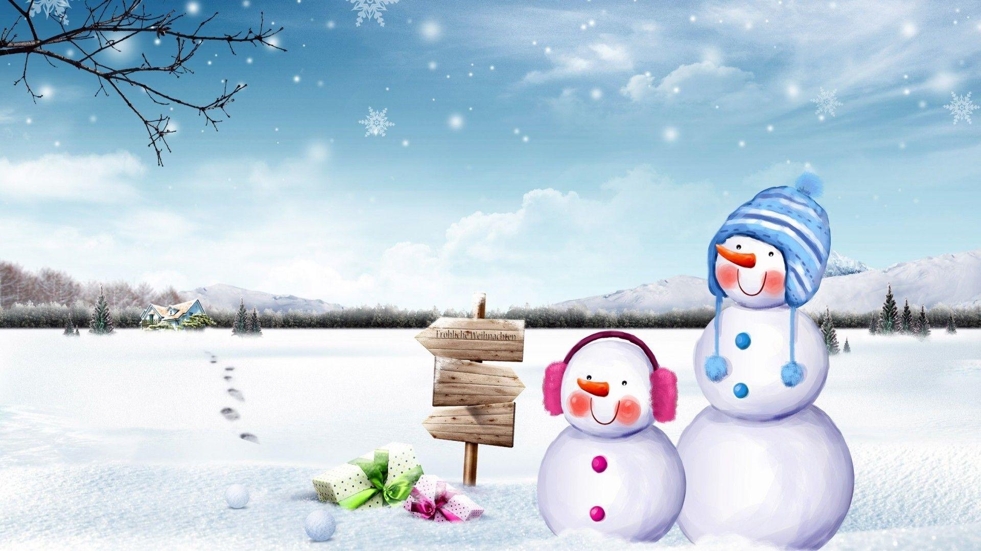 Snowman Wallpaper Picture hd