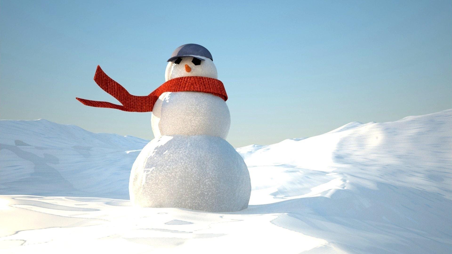 Snowman Wallpaper for pc