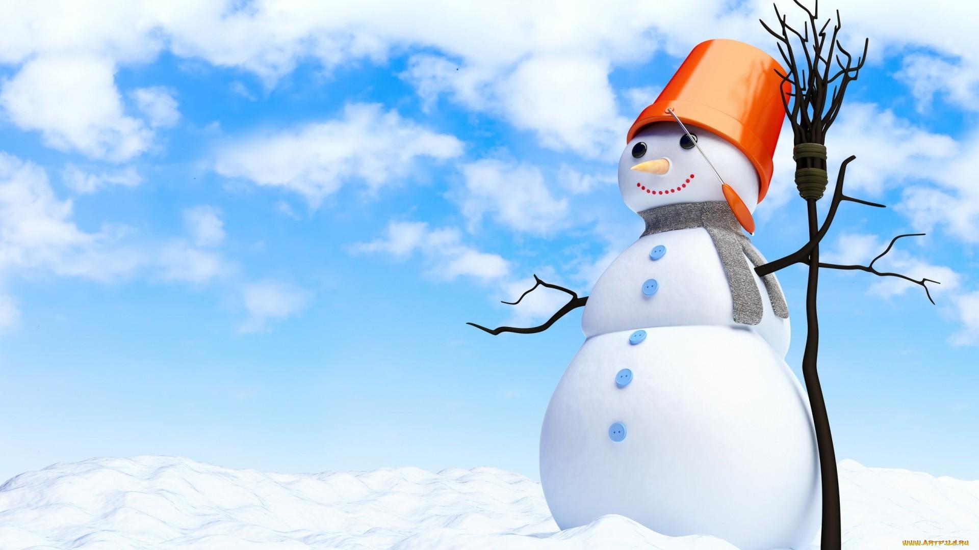 Snowman computer wallpaper