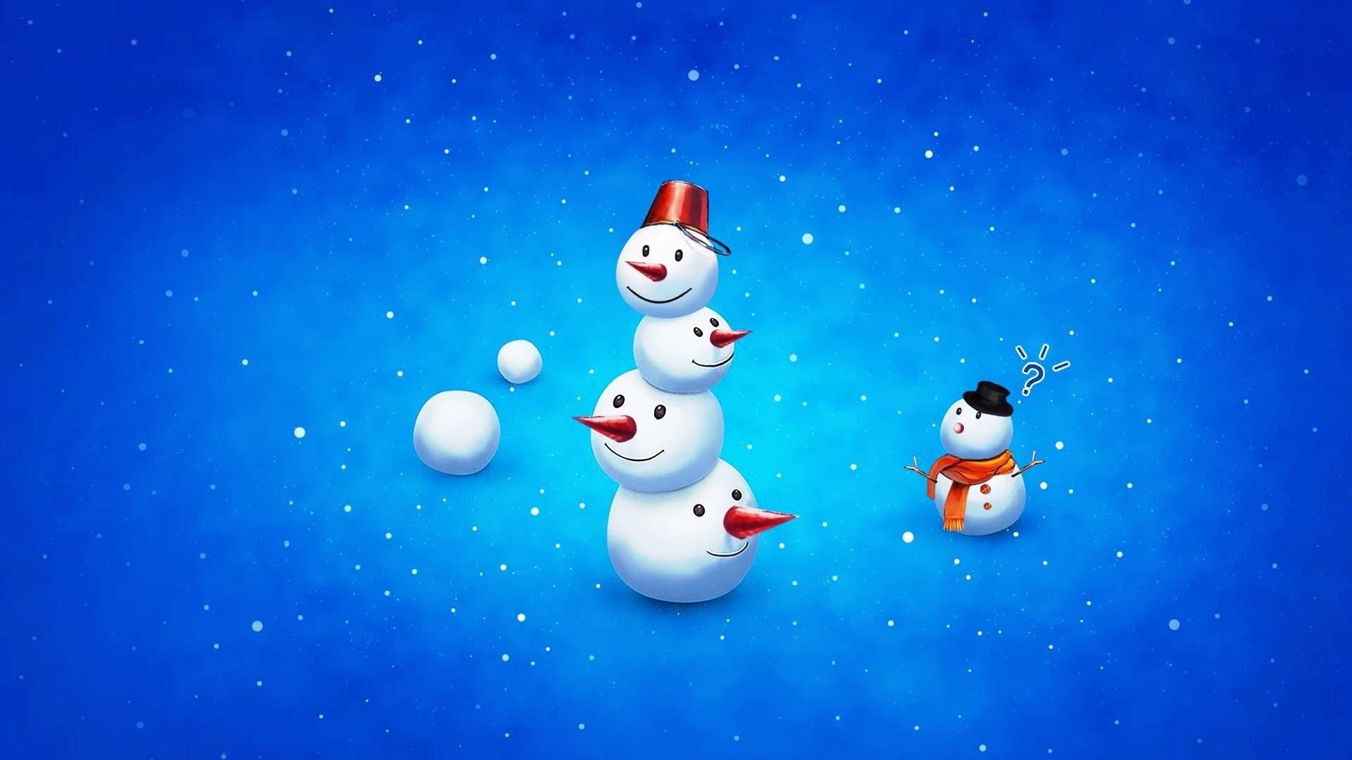 Snowman Wallpaper theme