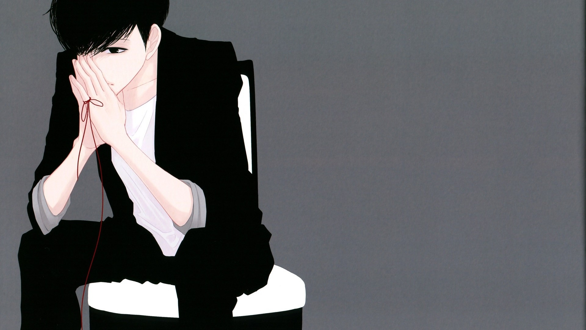 Anime Guy With Black Hair a wallpaper