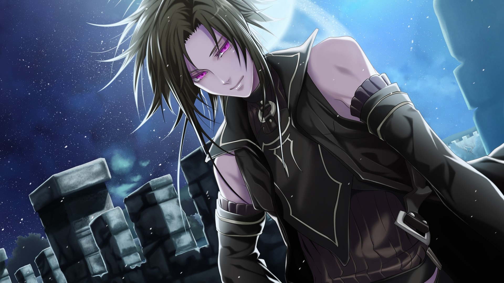 Anime Guy With Black Hair Wallpaper for pc