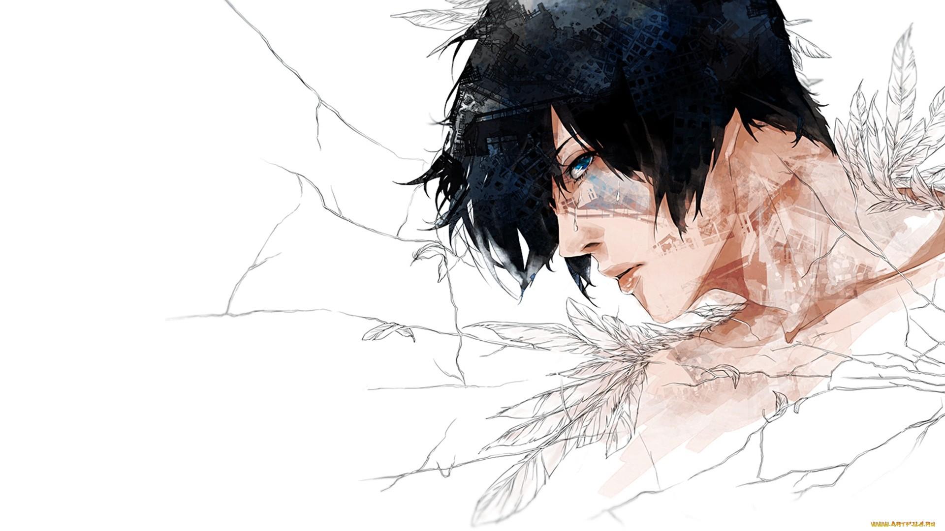 Anime Guy With Black Hair Wallpaper