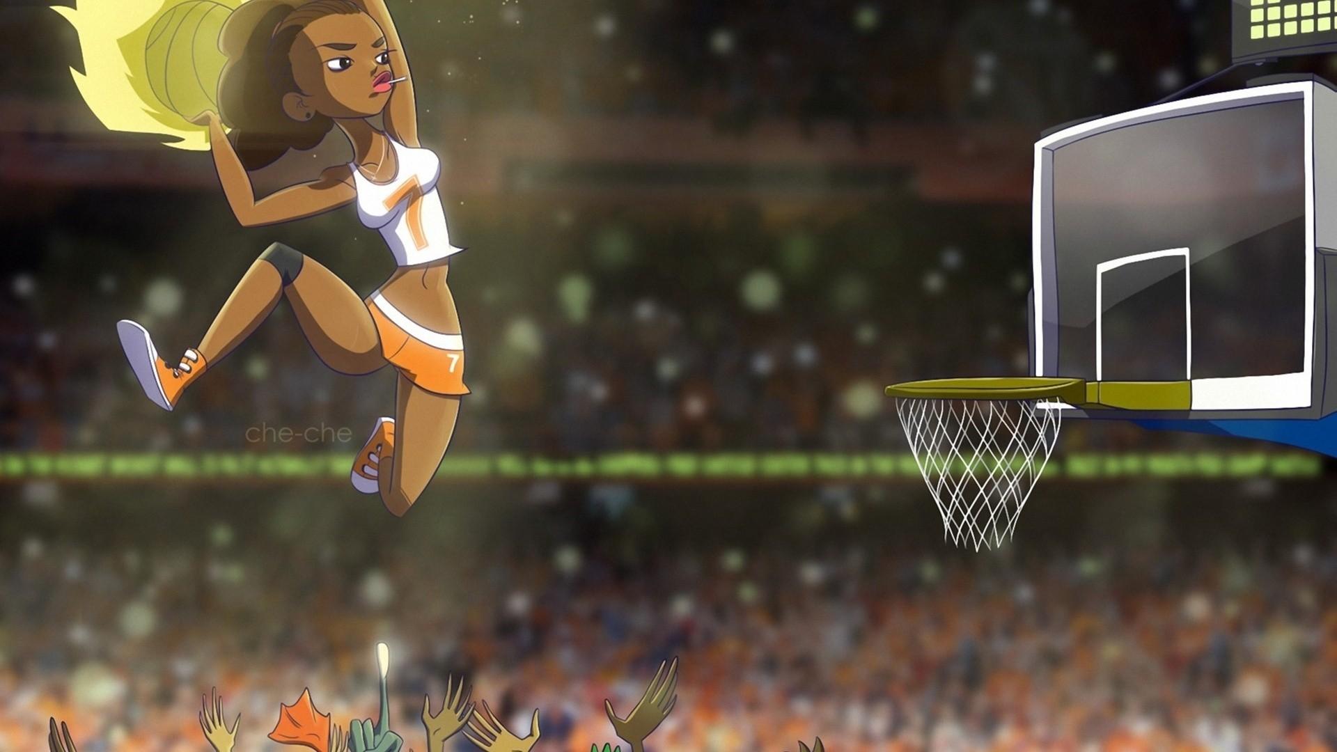 Cartoon Basketball High Quality