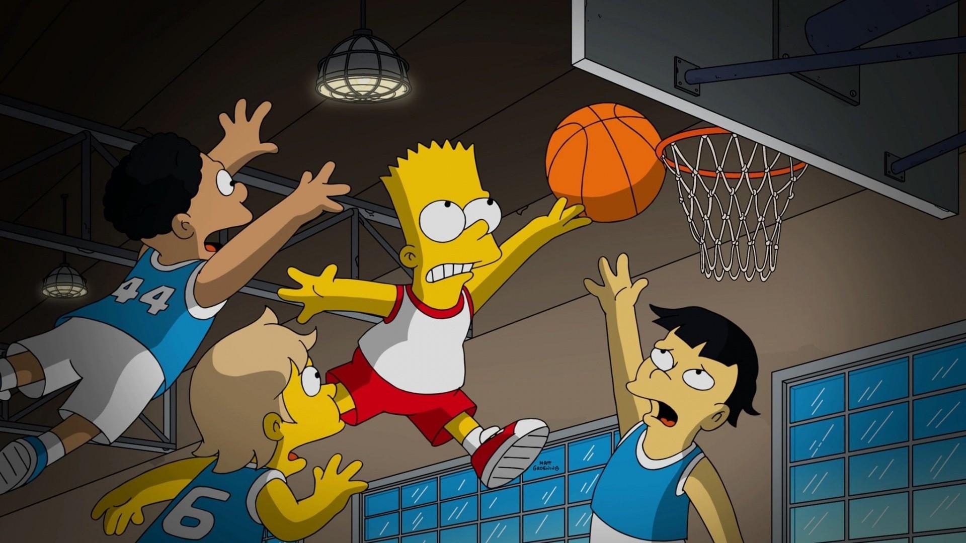 Cartoon Basketball Background Wallpaper