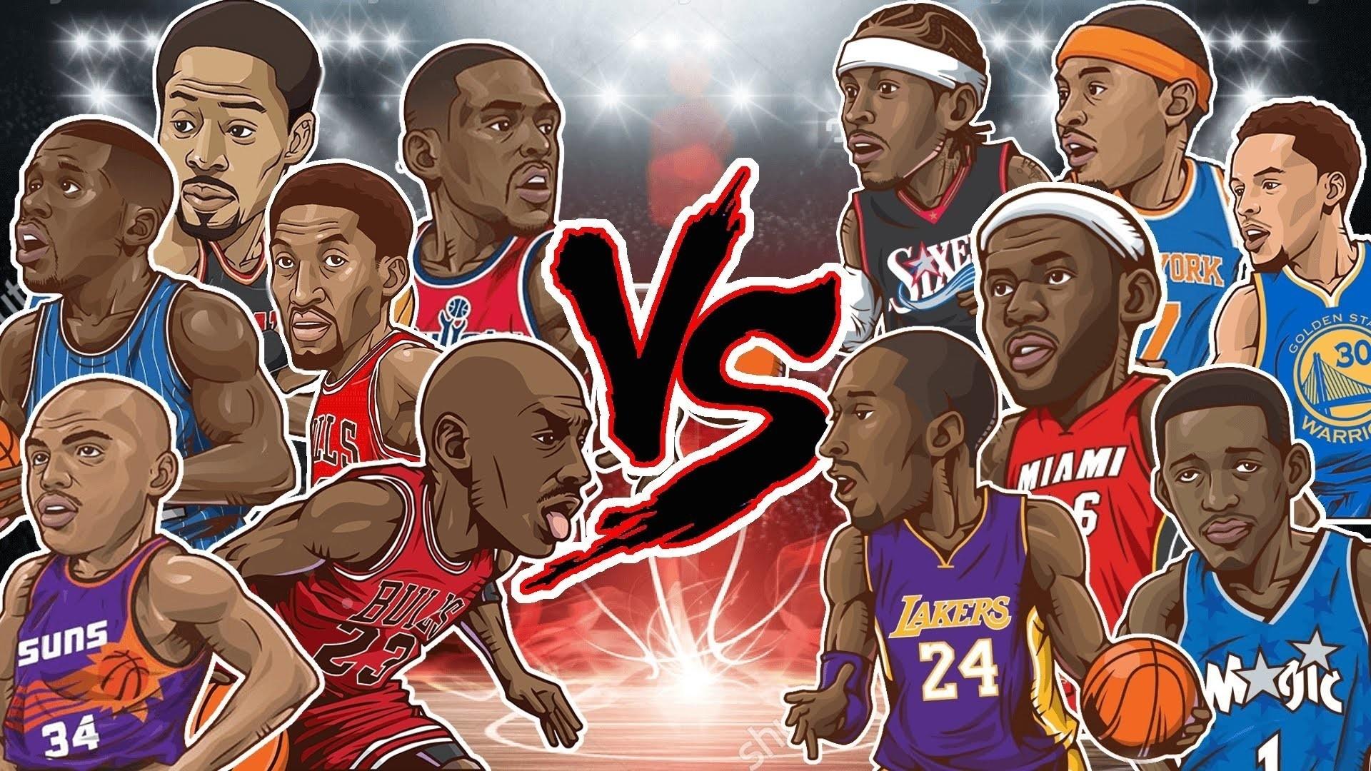 Cartoon Basketball Full HD Wallpaper