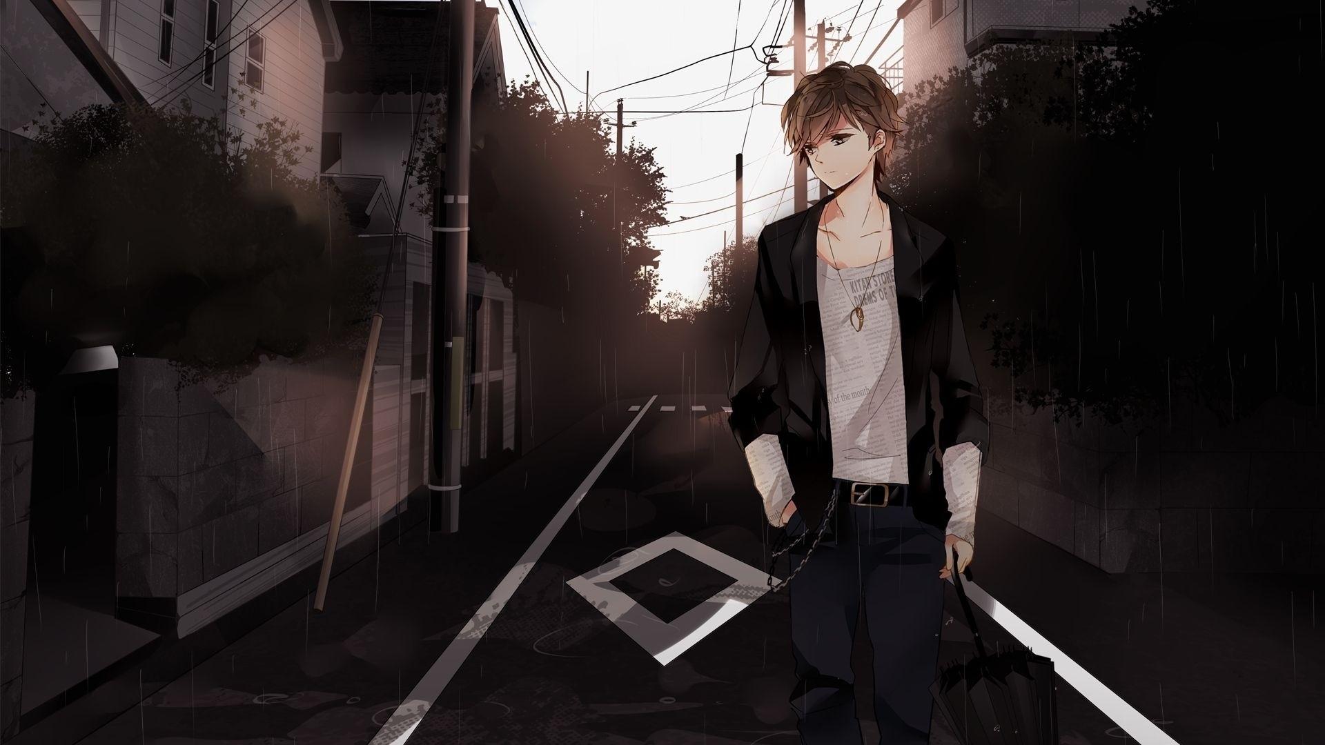 Handsome Anime Boy Background Wallpaper