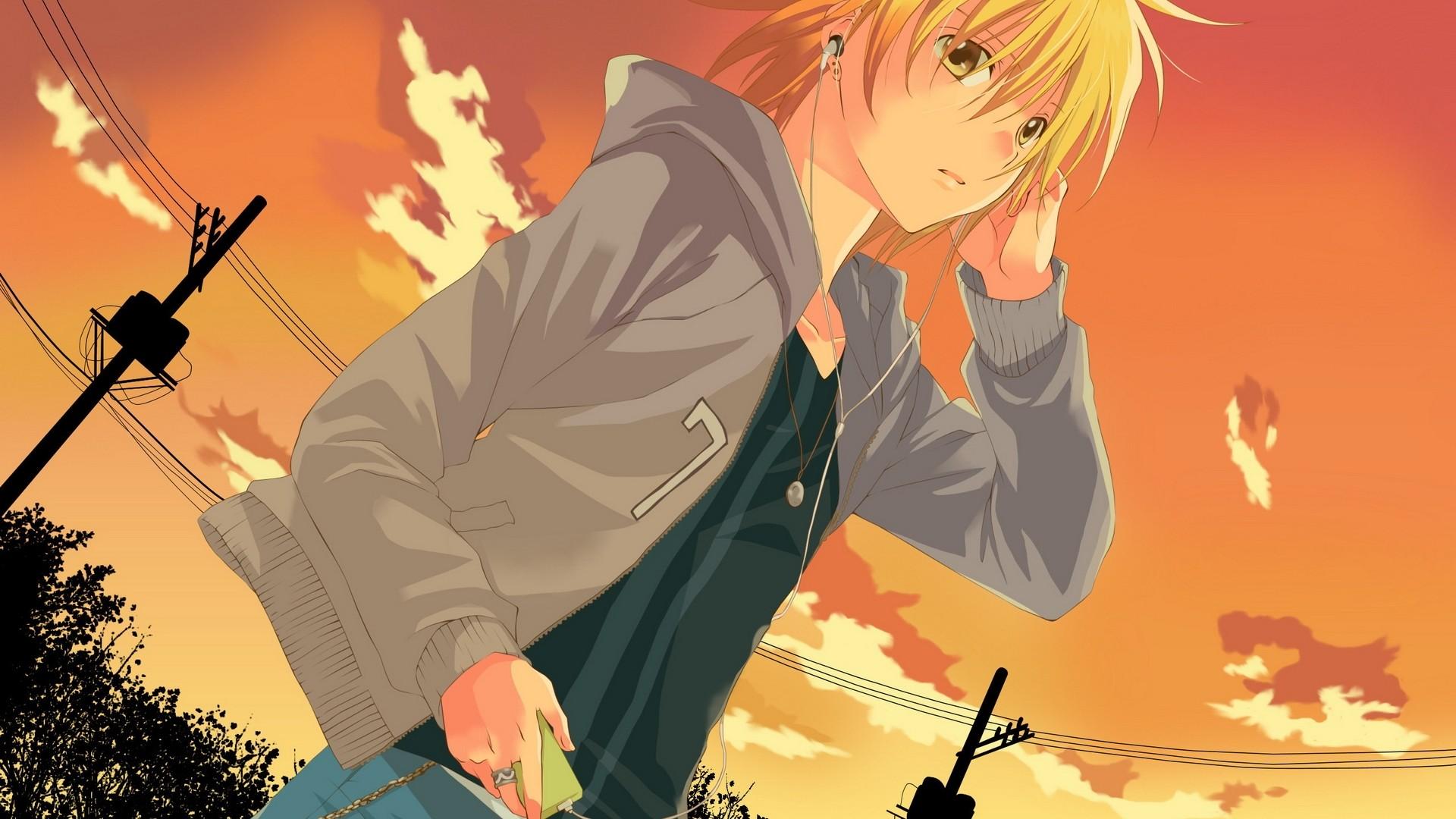 Handsome Anime Boy PC Wallpaper