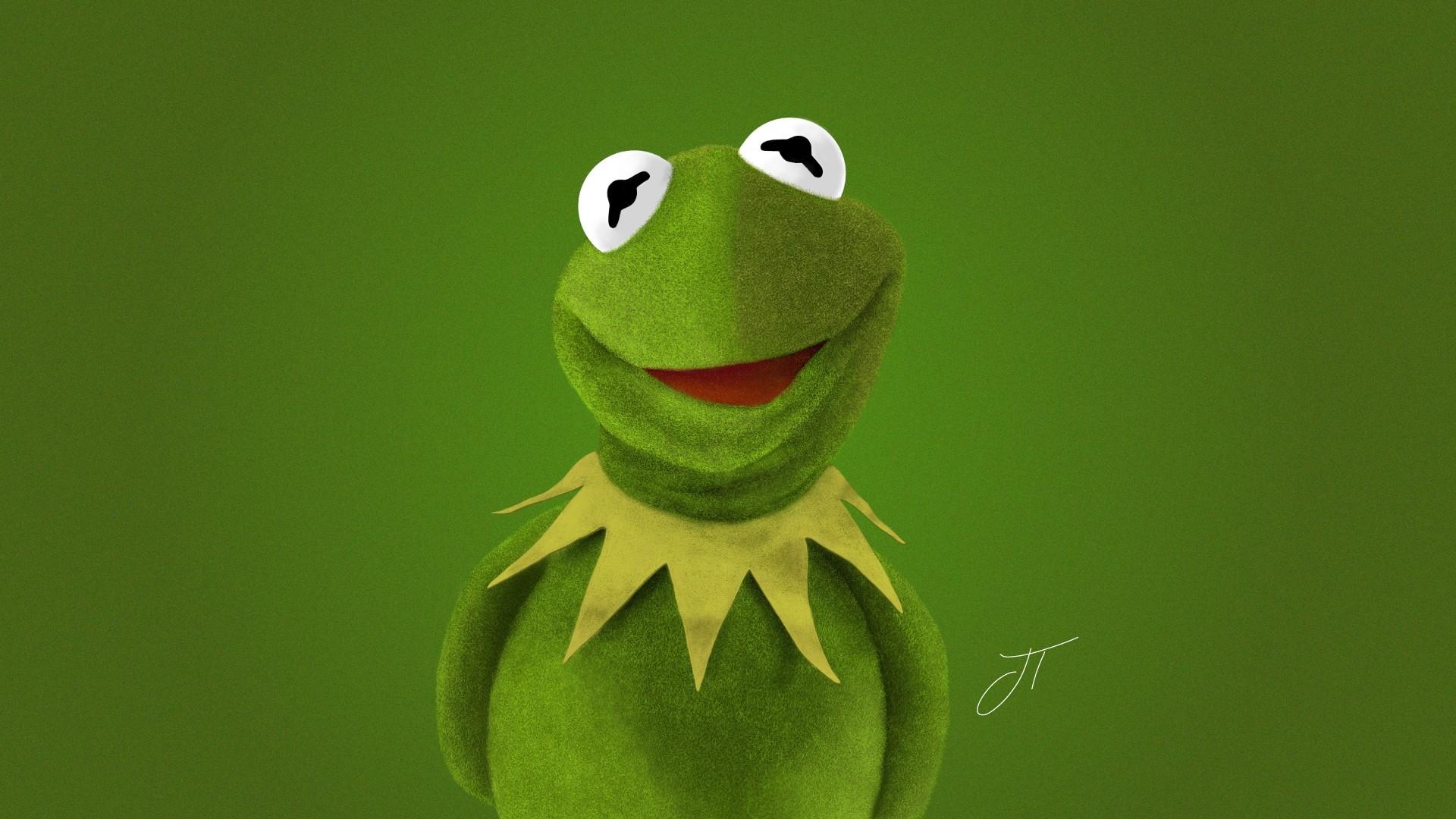 Hearts Kermit The Frog computer wallpaper