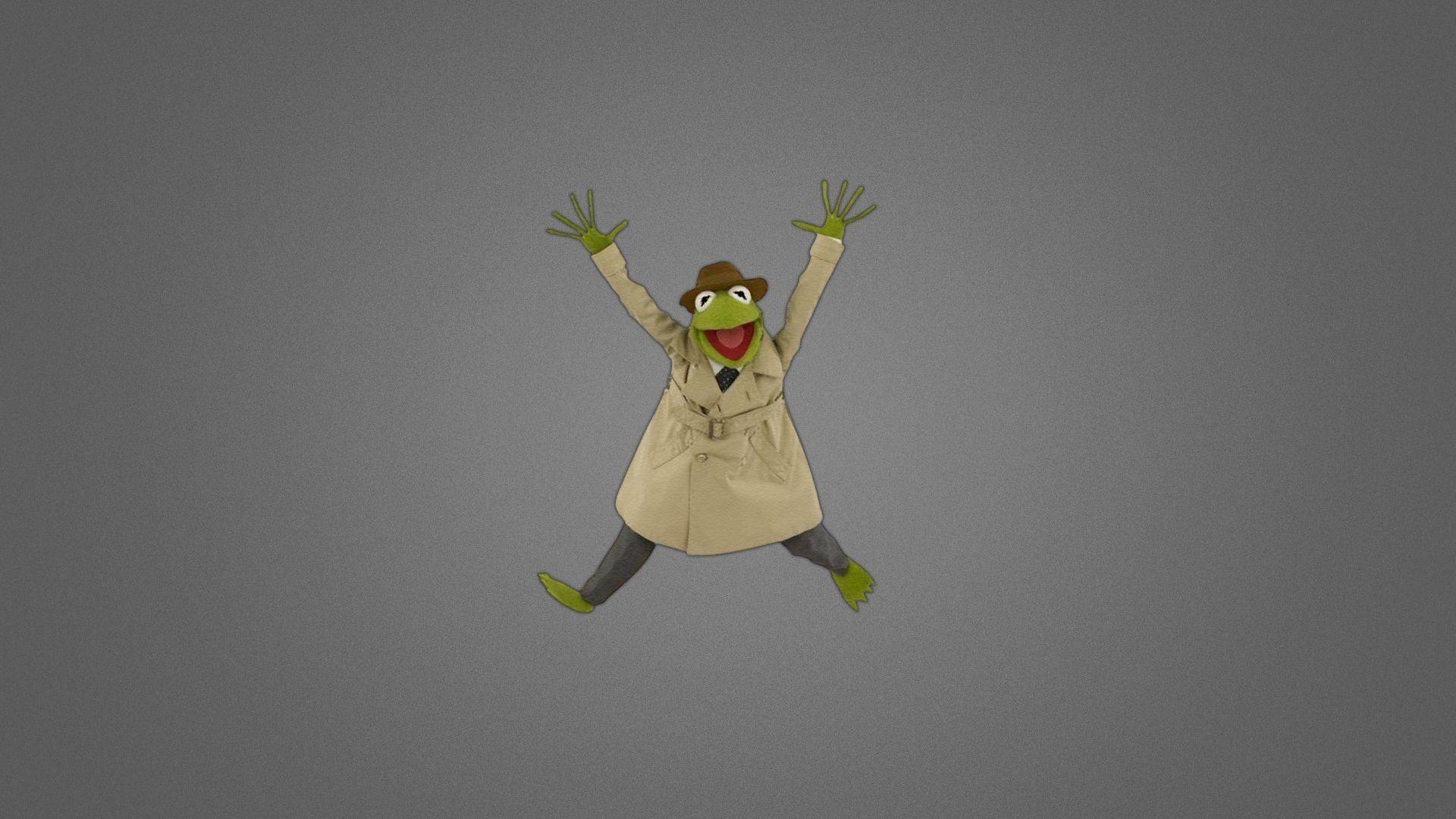 Hearts Kermit The Frog Full HD Wallpaper