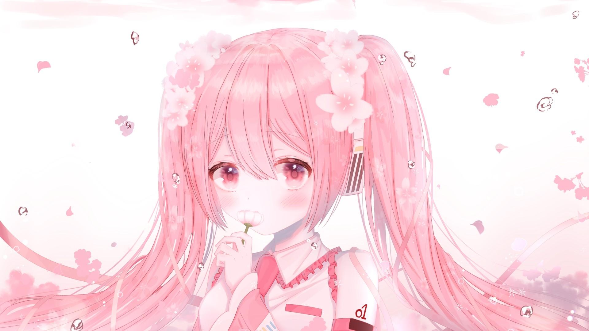 Pink Hair Anime Girl a wallpaper