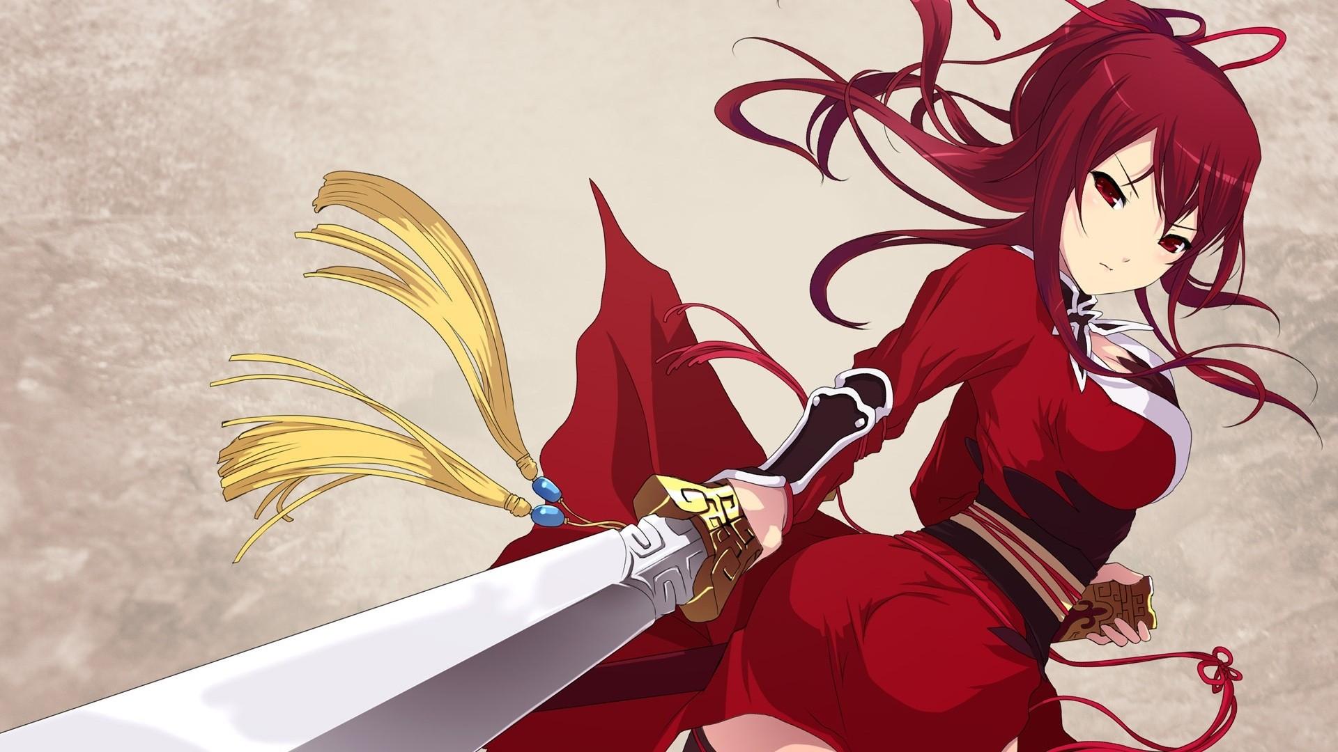 Red Hair Anime Girl HD Wallpaper