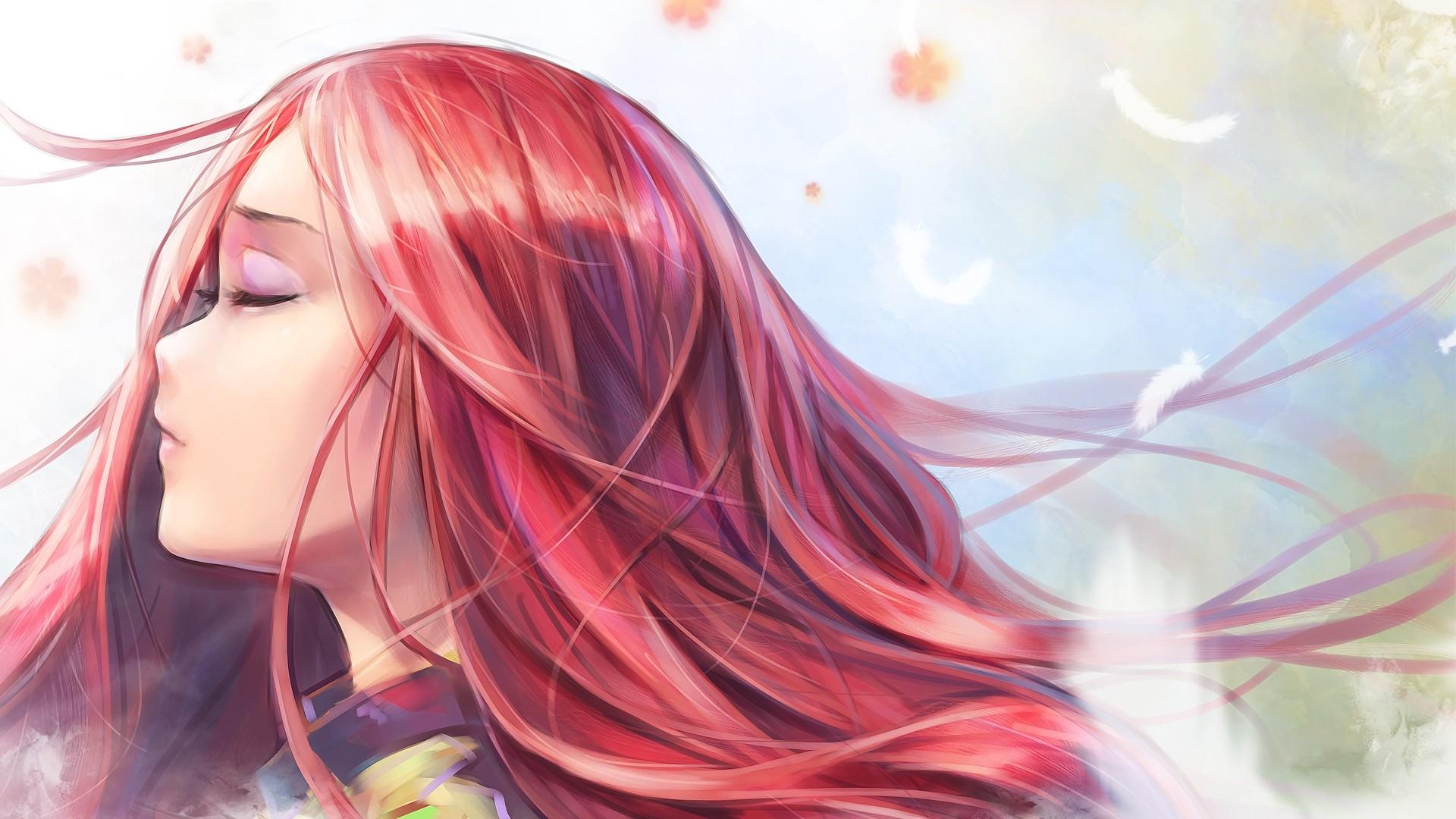 Red Hair Anime Girl High Quality