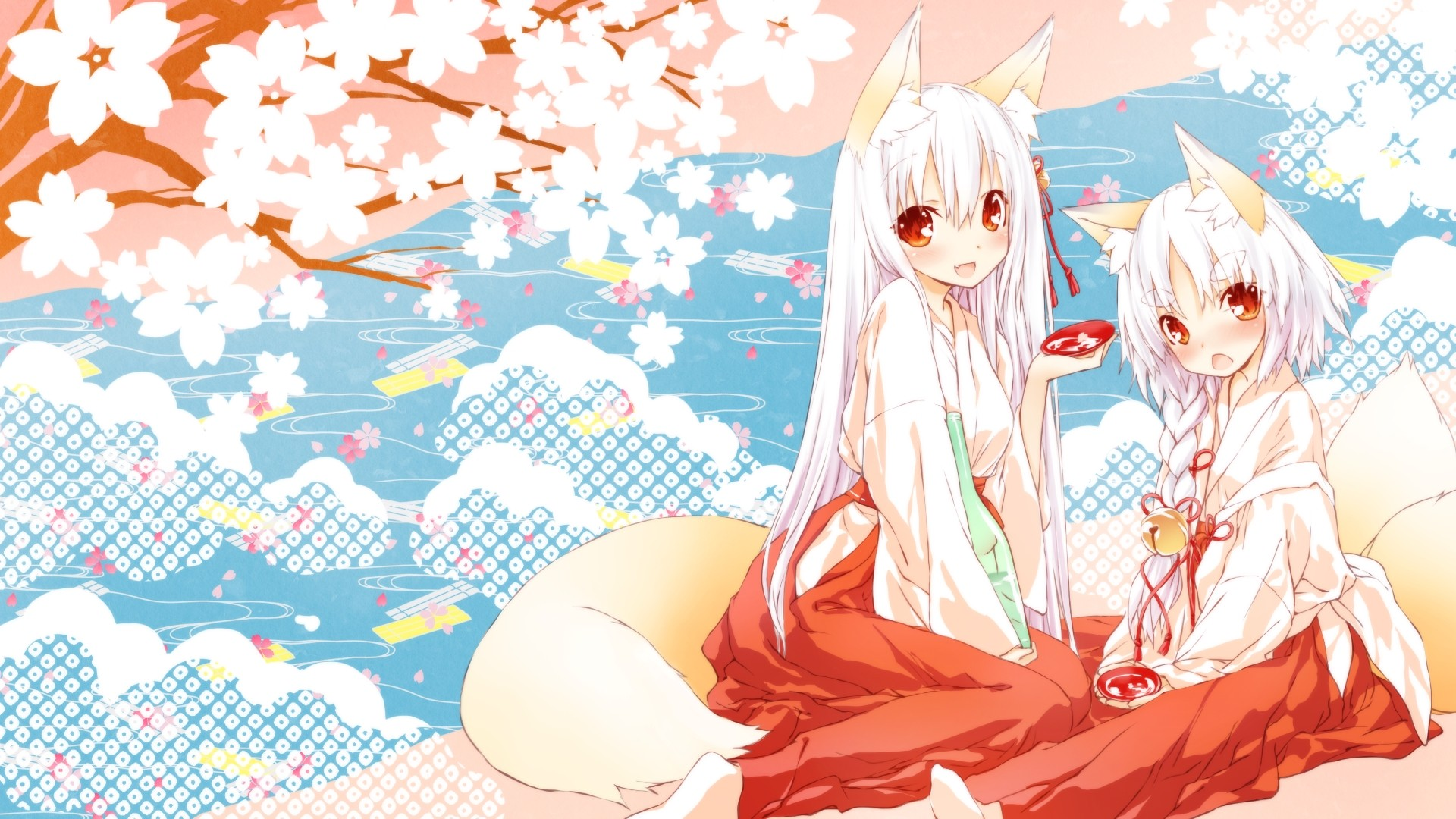 White Hair Anime Girl HD Wallpaper