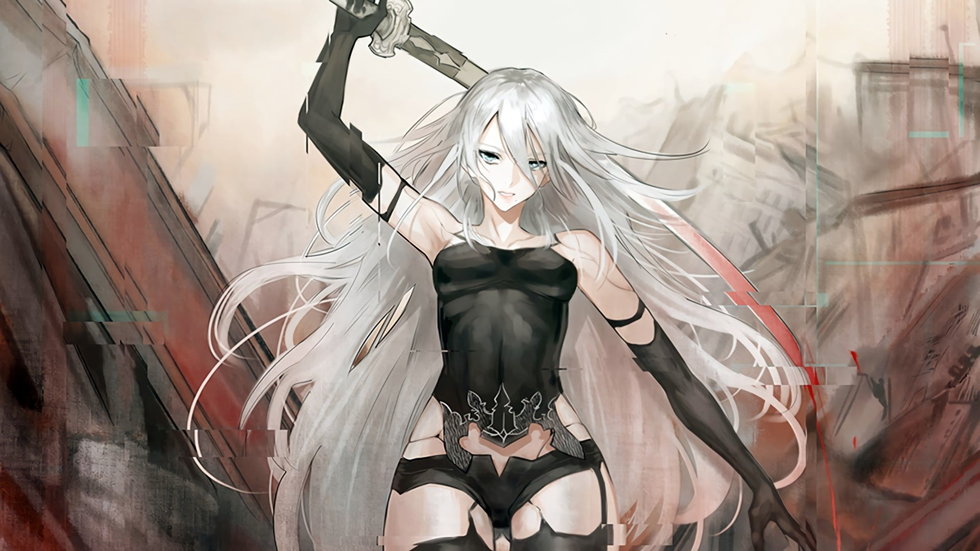 White Hair Anime Girl Pic