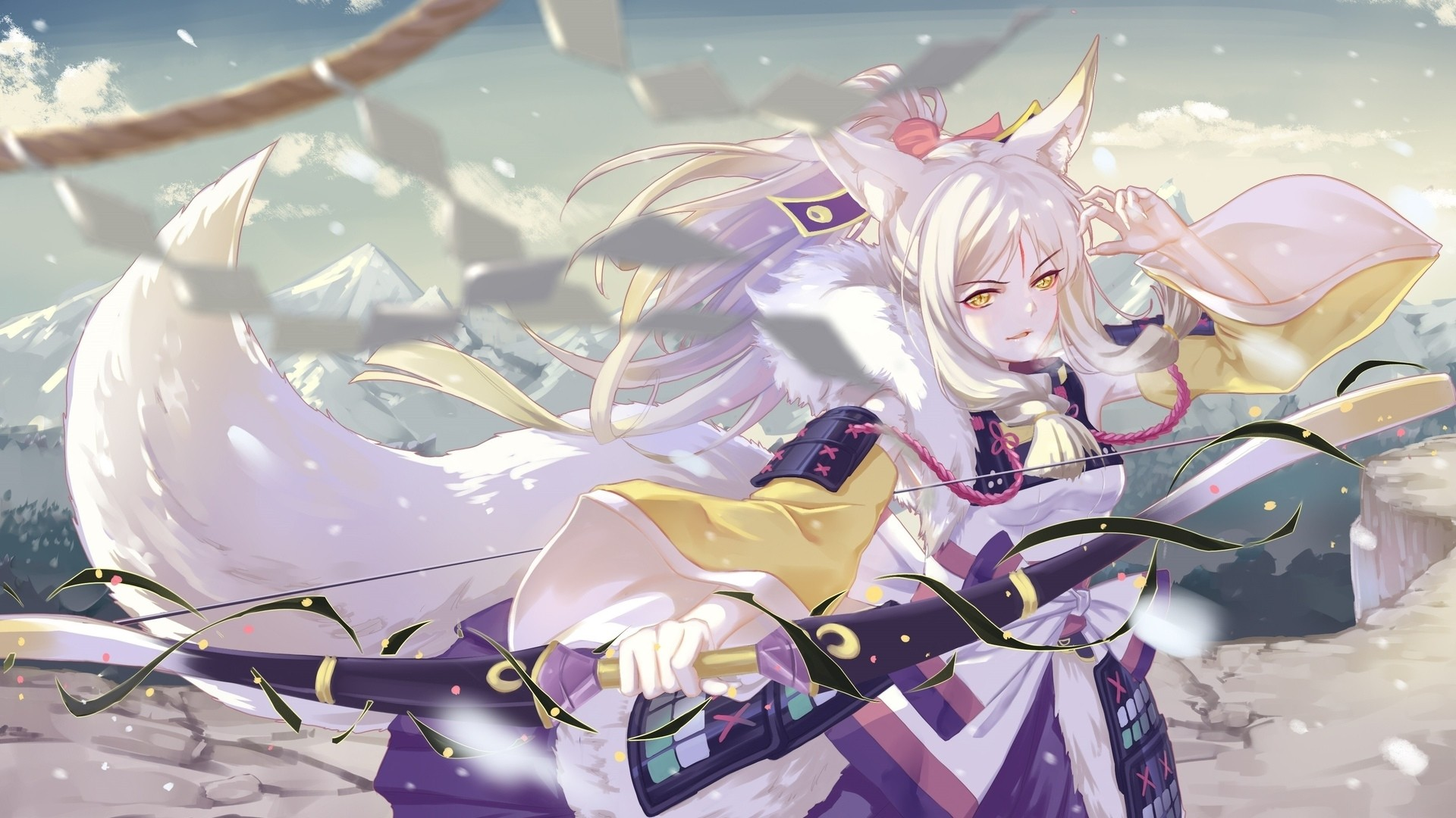 White Hair Anime Girl Image