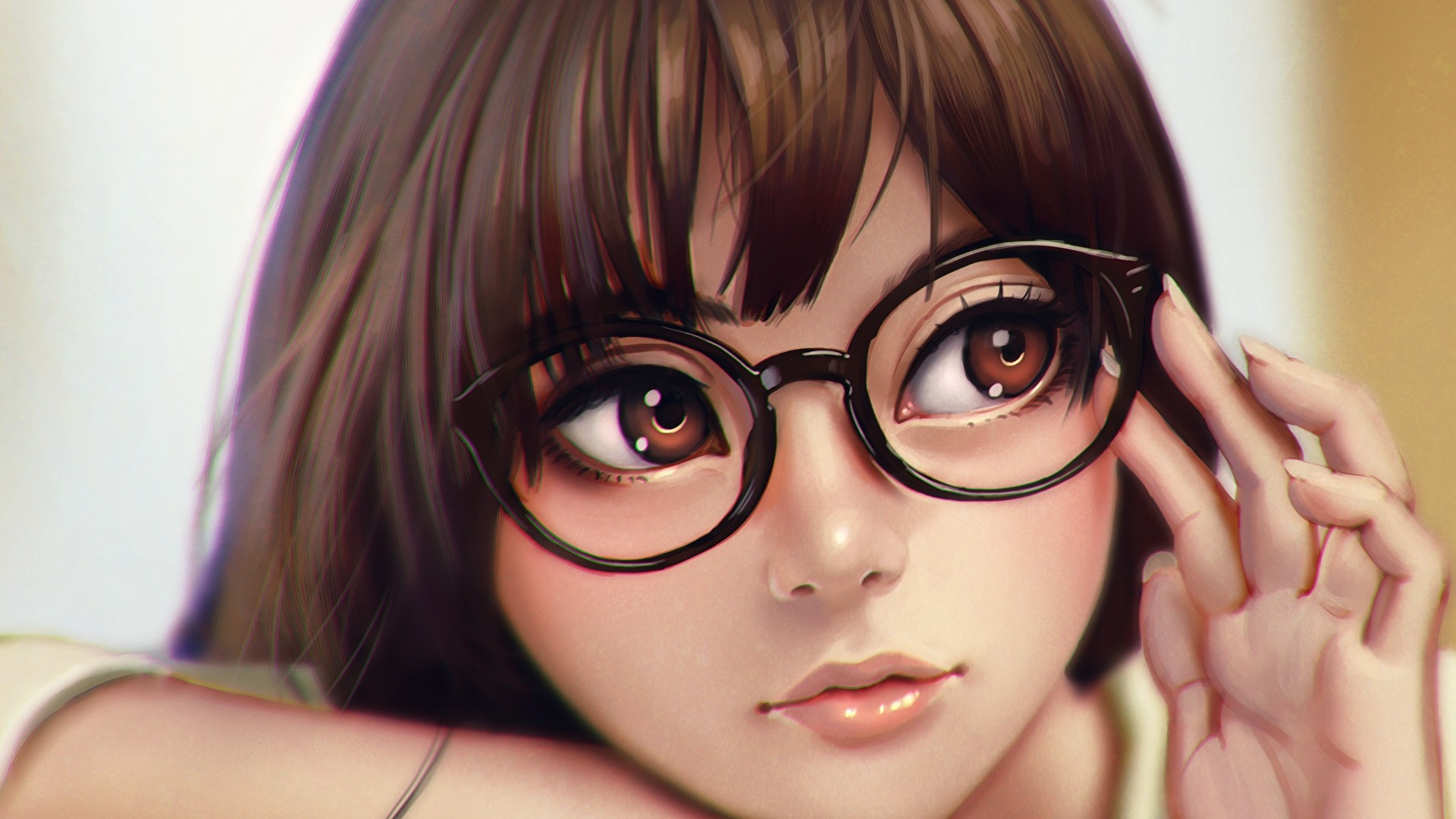 Anime Girl With Glasses Picture