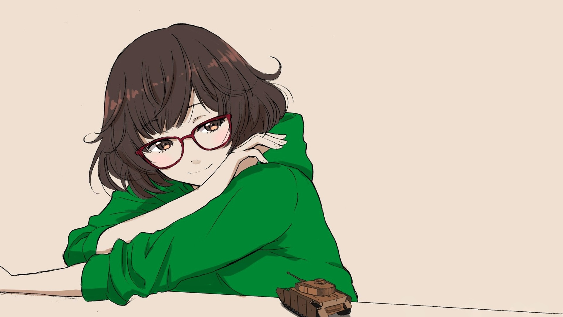 Anime Girl With Glasses hd wallpaper download