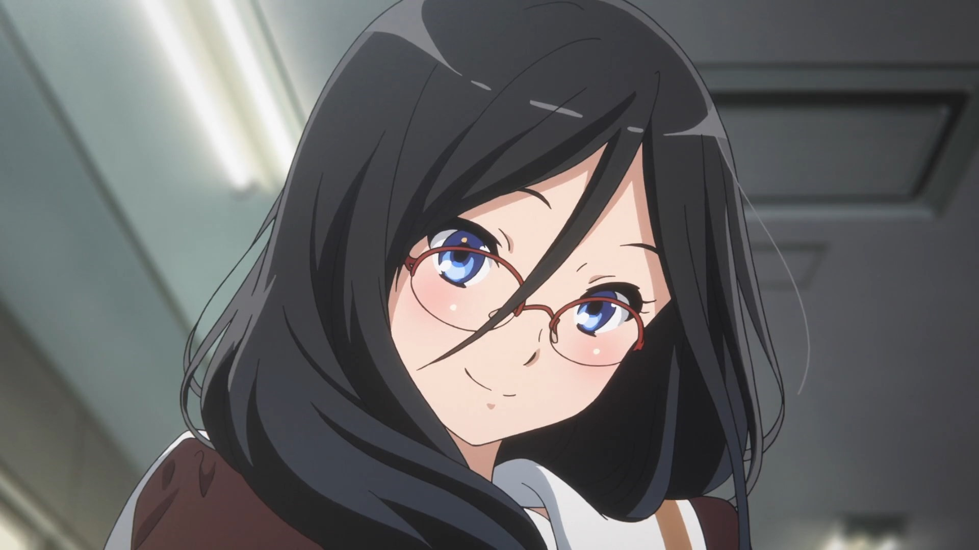 Anime Girl With Glasses Pic