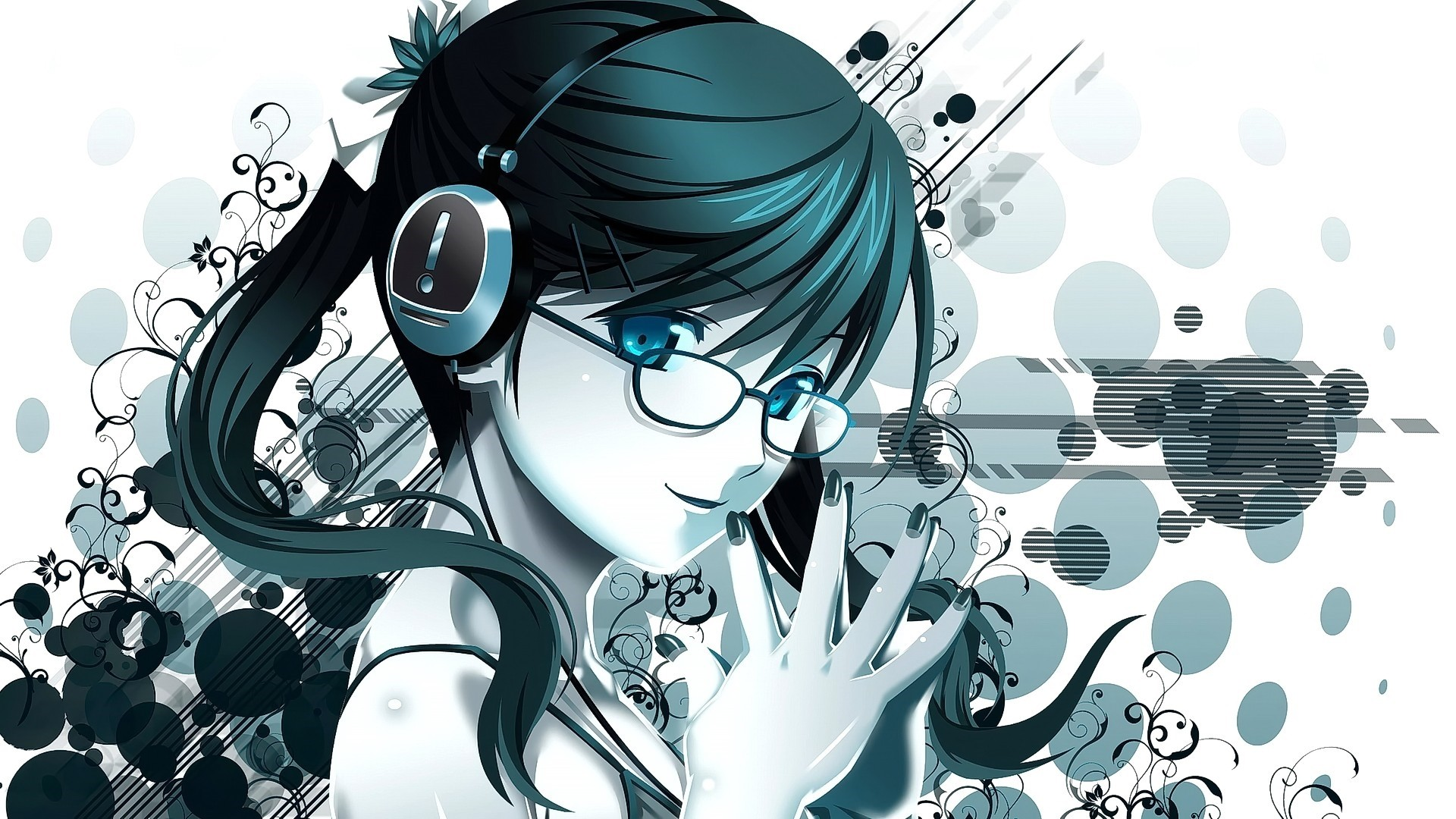 Anime Girl With Glasses PC Wallpaper HD