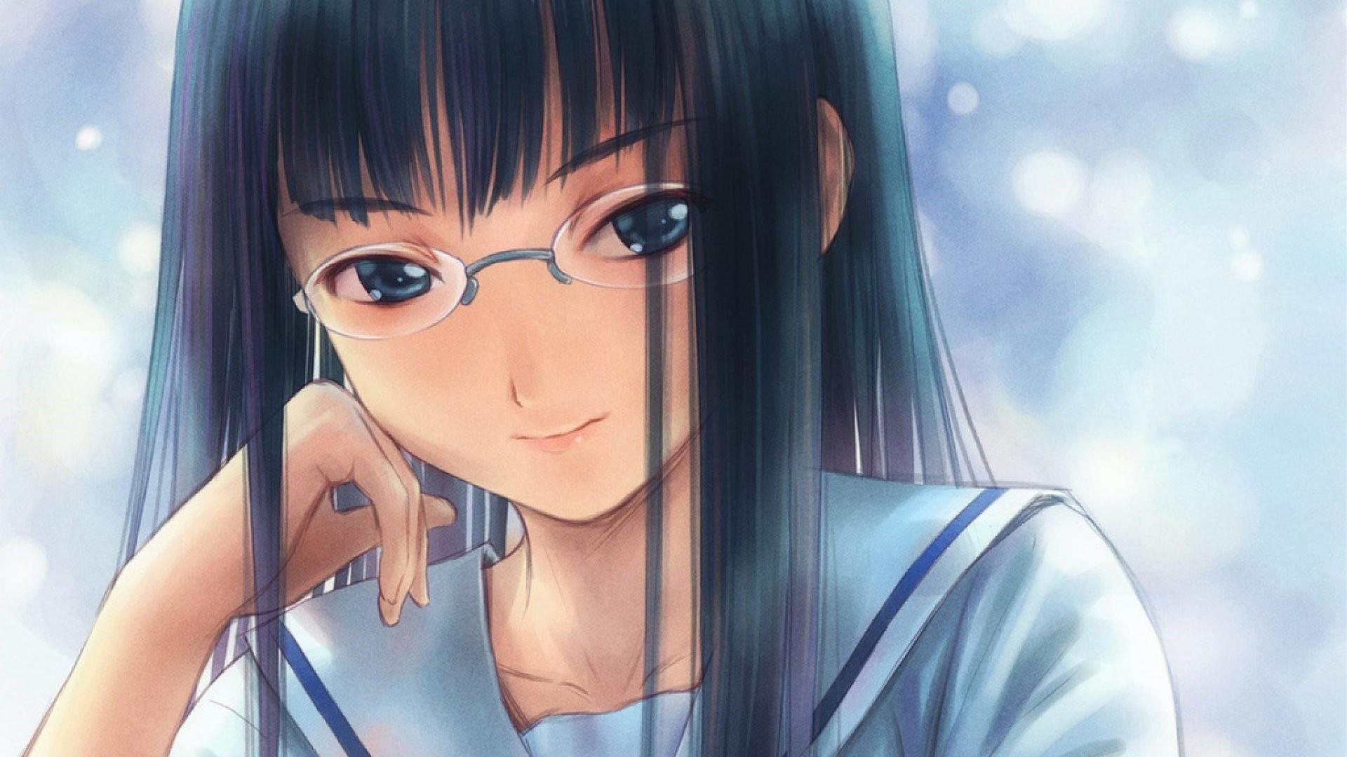 Anime Girl With Glasses Wallpaper