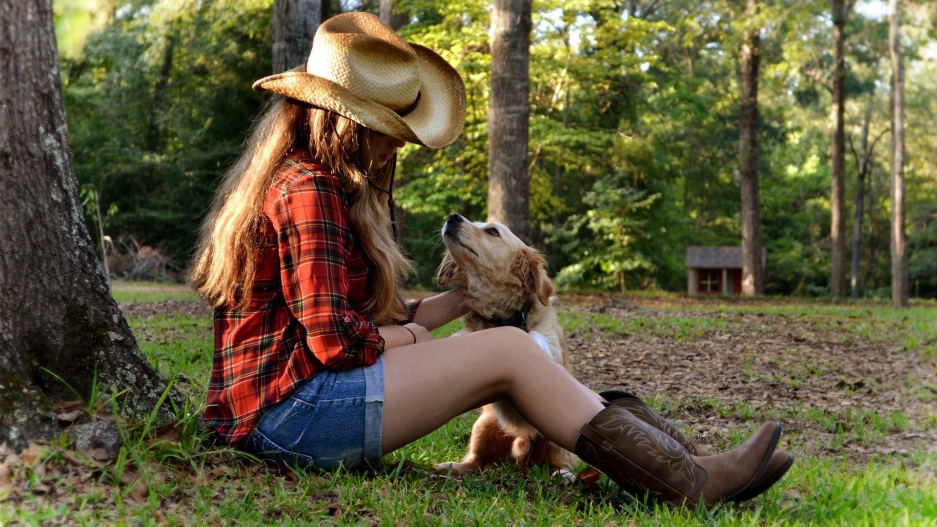 Country Girl a wallpaper