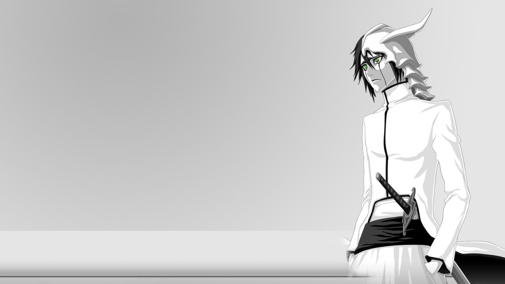 Anime Black And White PC Wallpaper HD