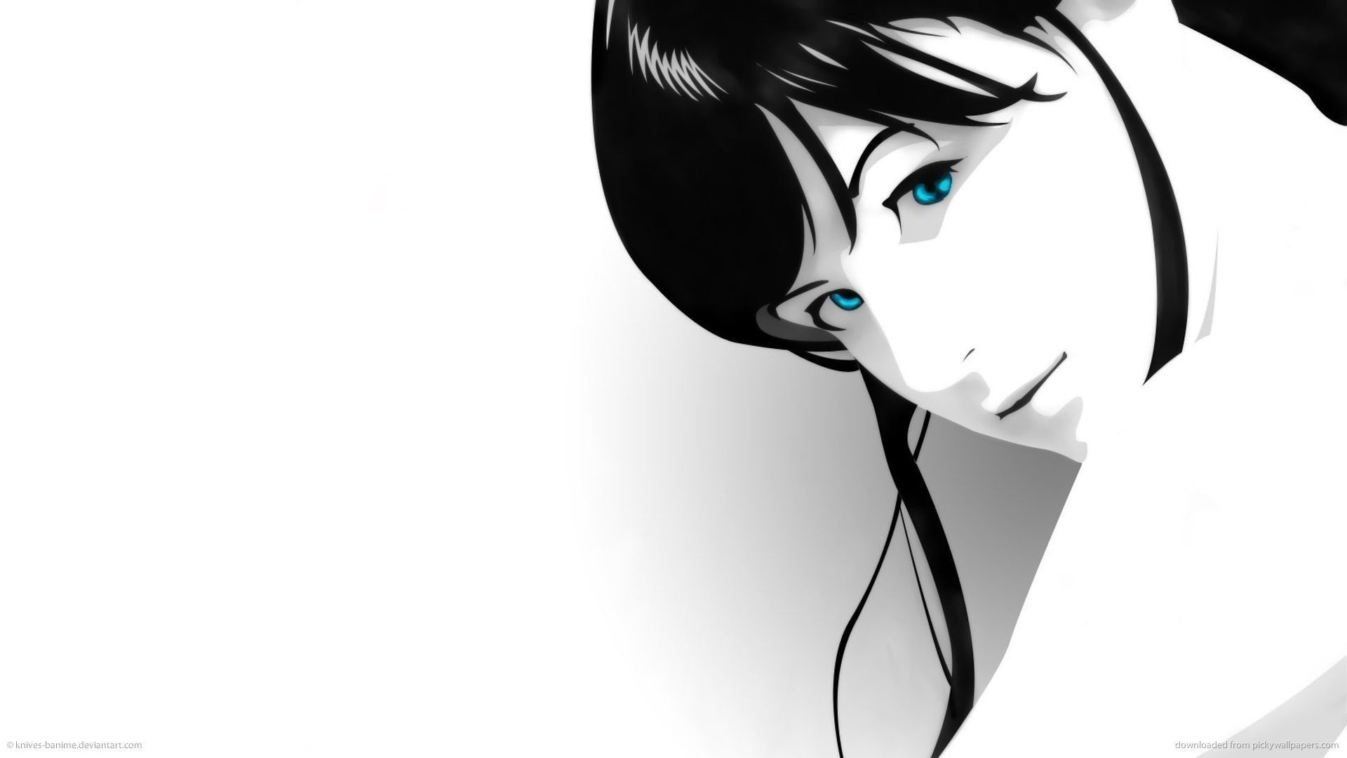 Anime Black And White wallpaper photo hd