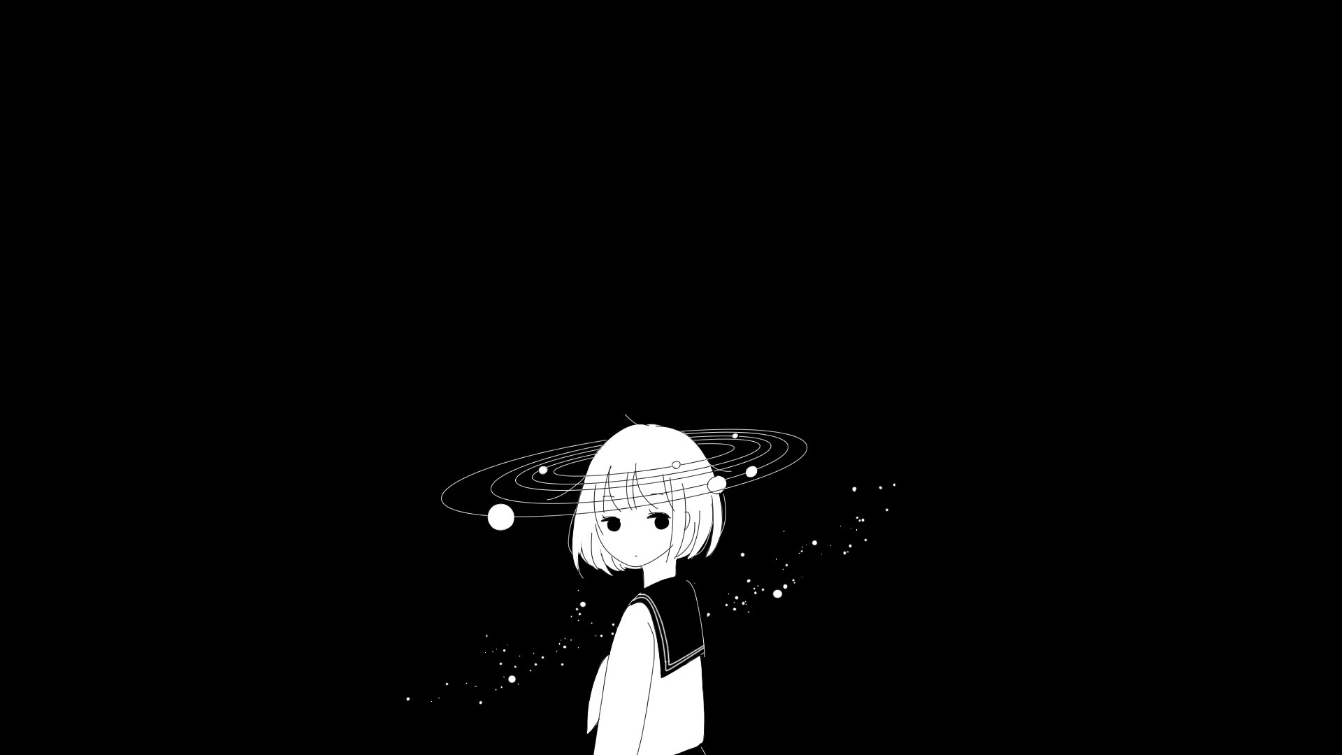 Anime Black And White Pic