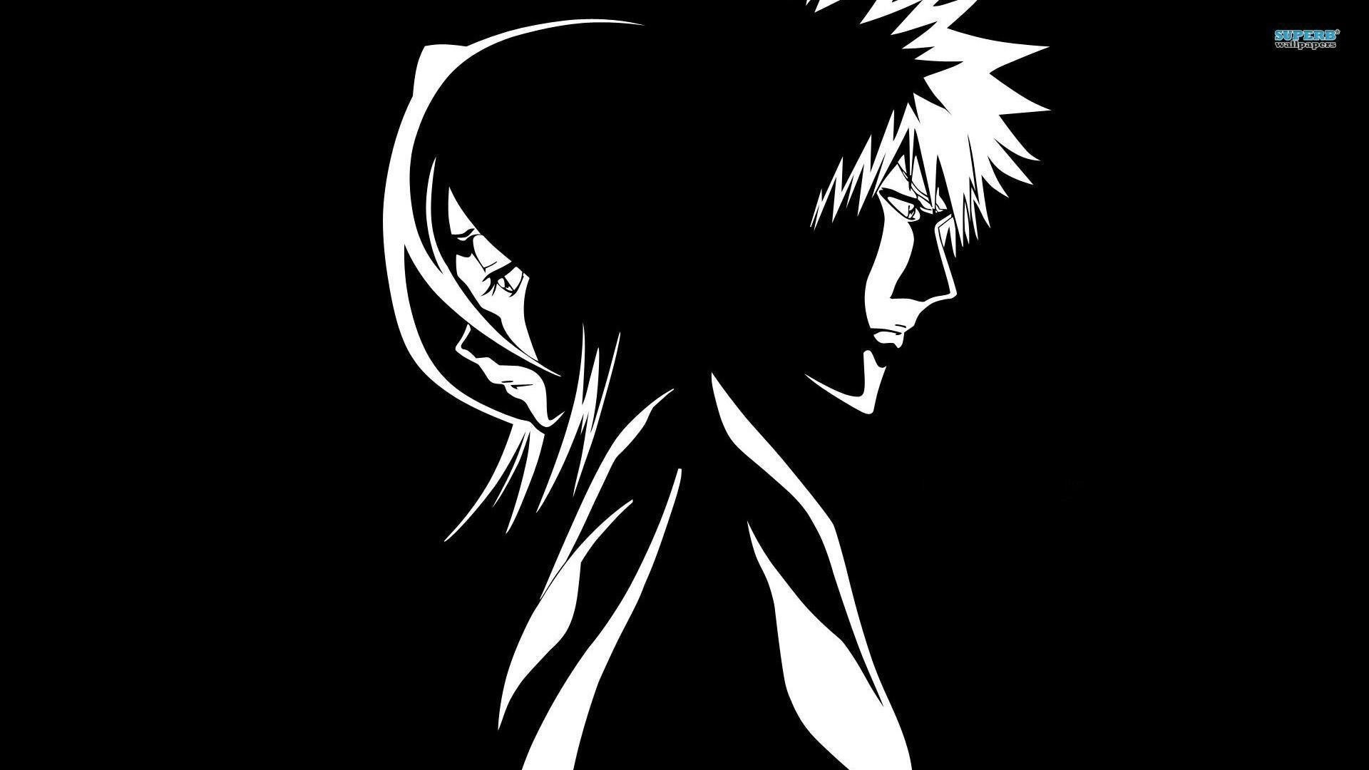 Anime Black And White Wallpaper theme